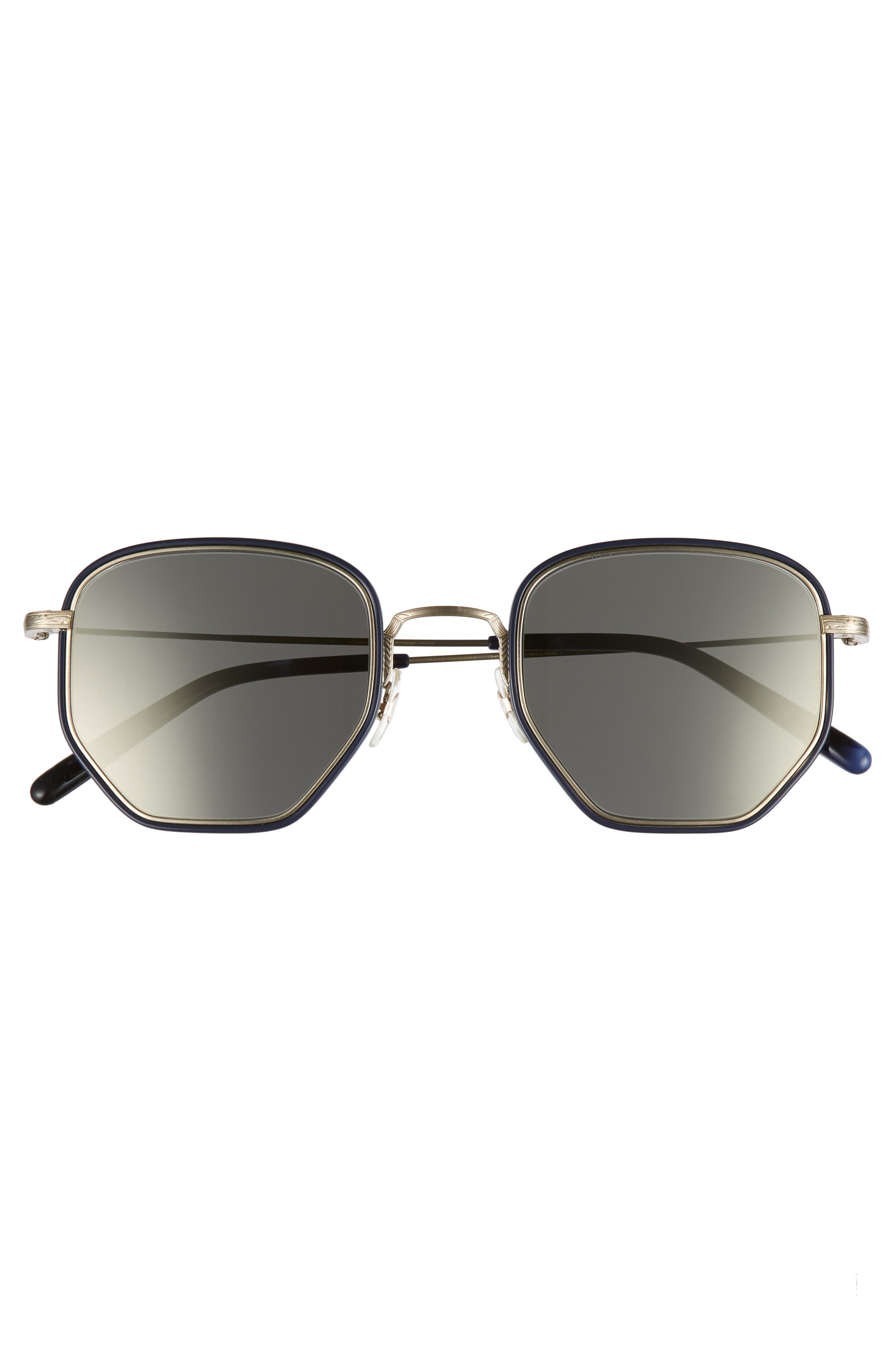 Alland 50mm Sunglasses,                             Alternate thumbnail 2, color,                             Navy/ Brushed