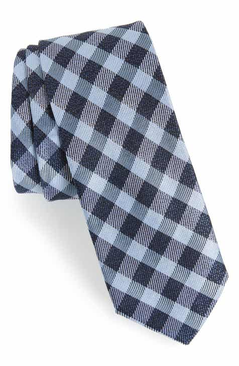 1901 Avers Plaid Silk Tie