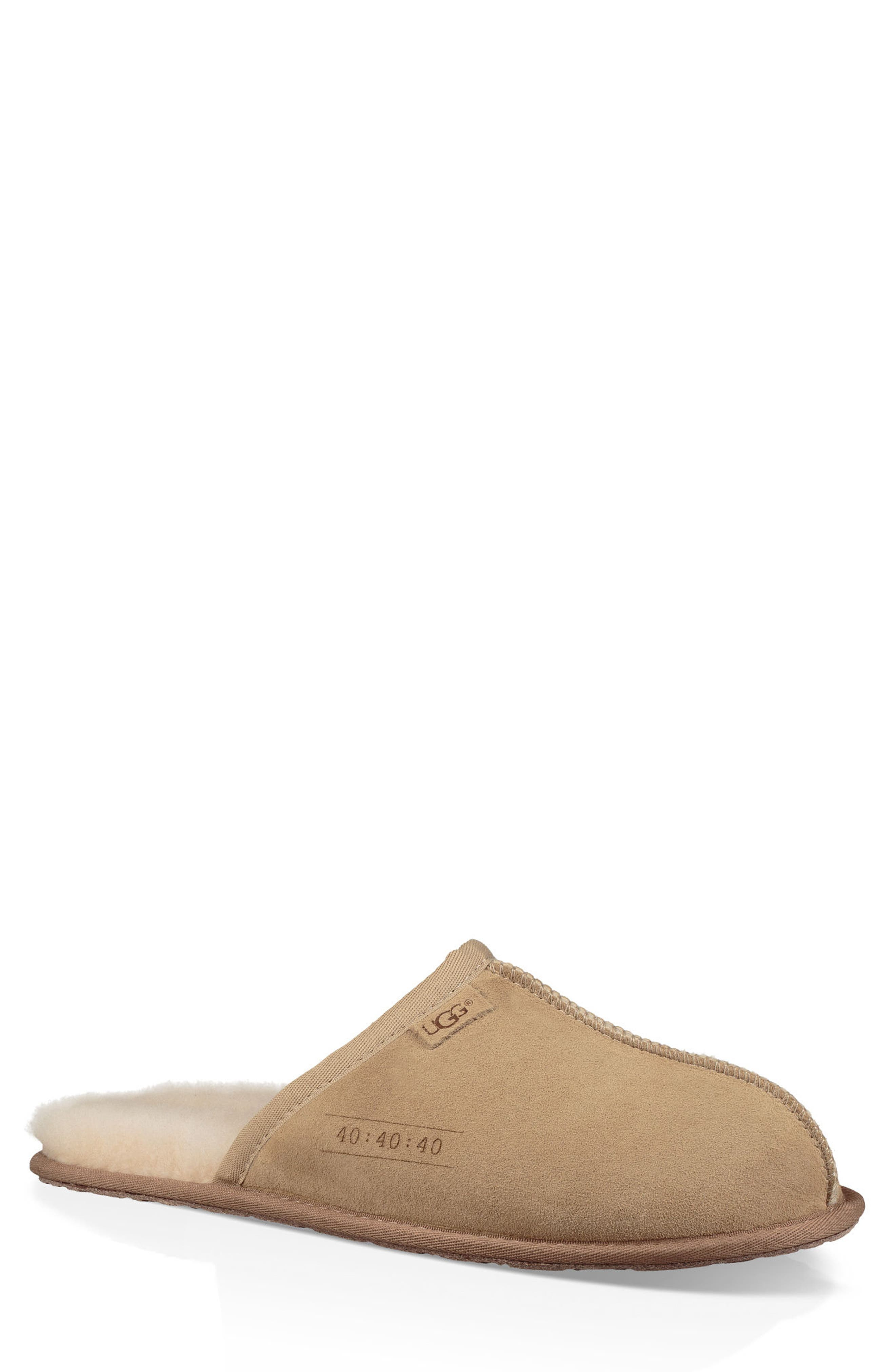 UGG® Scuff 40:40:40 Anniversary Genuine Shearling Slipper (Men) (Limited Edition)