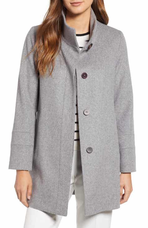 69c05bd1047 Fleurette Placket Front Wool Car Coat (Regular   Petite)