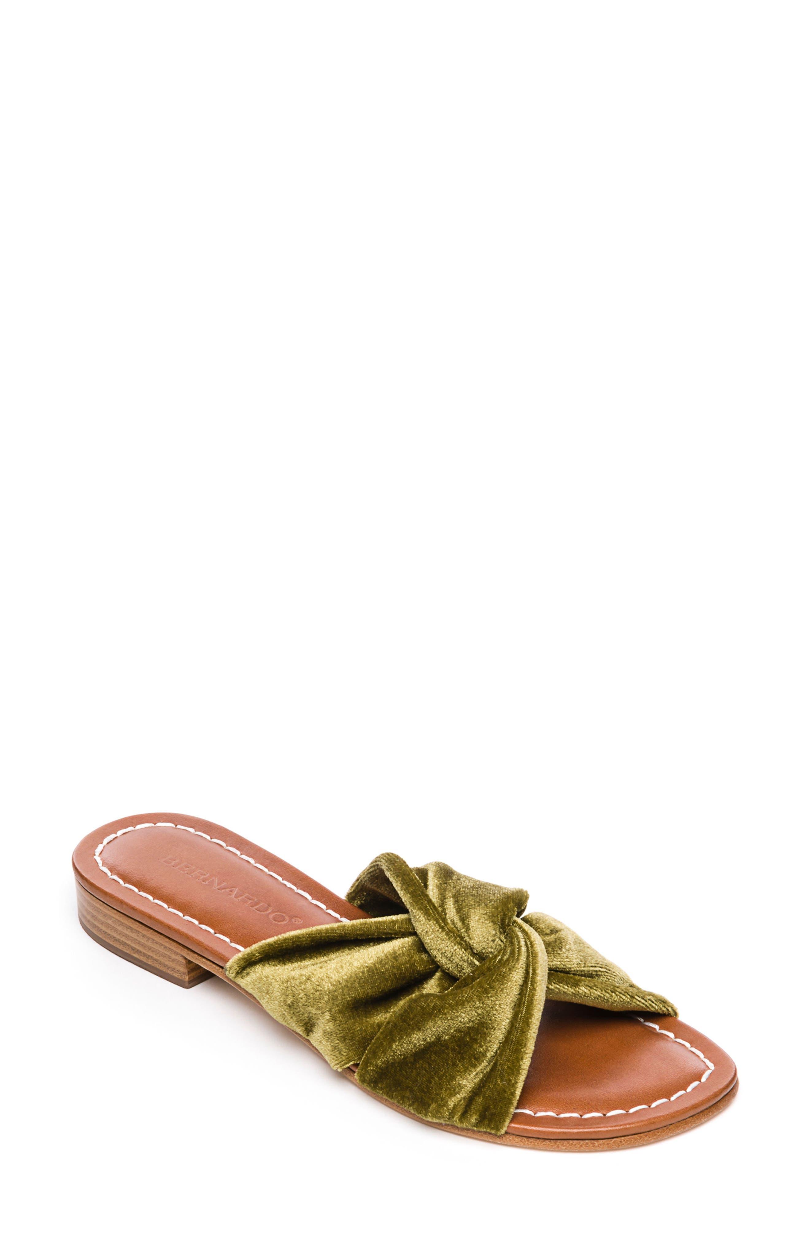 Bernardo Tiffany Knotted Slide Sandal,                             Main thumbnail 1, color,                             Clasico Velvet