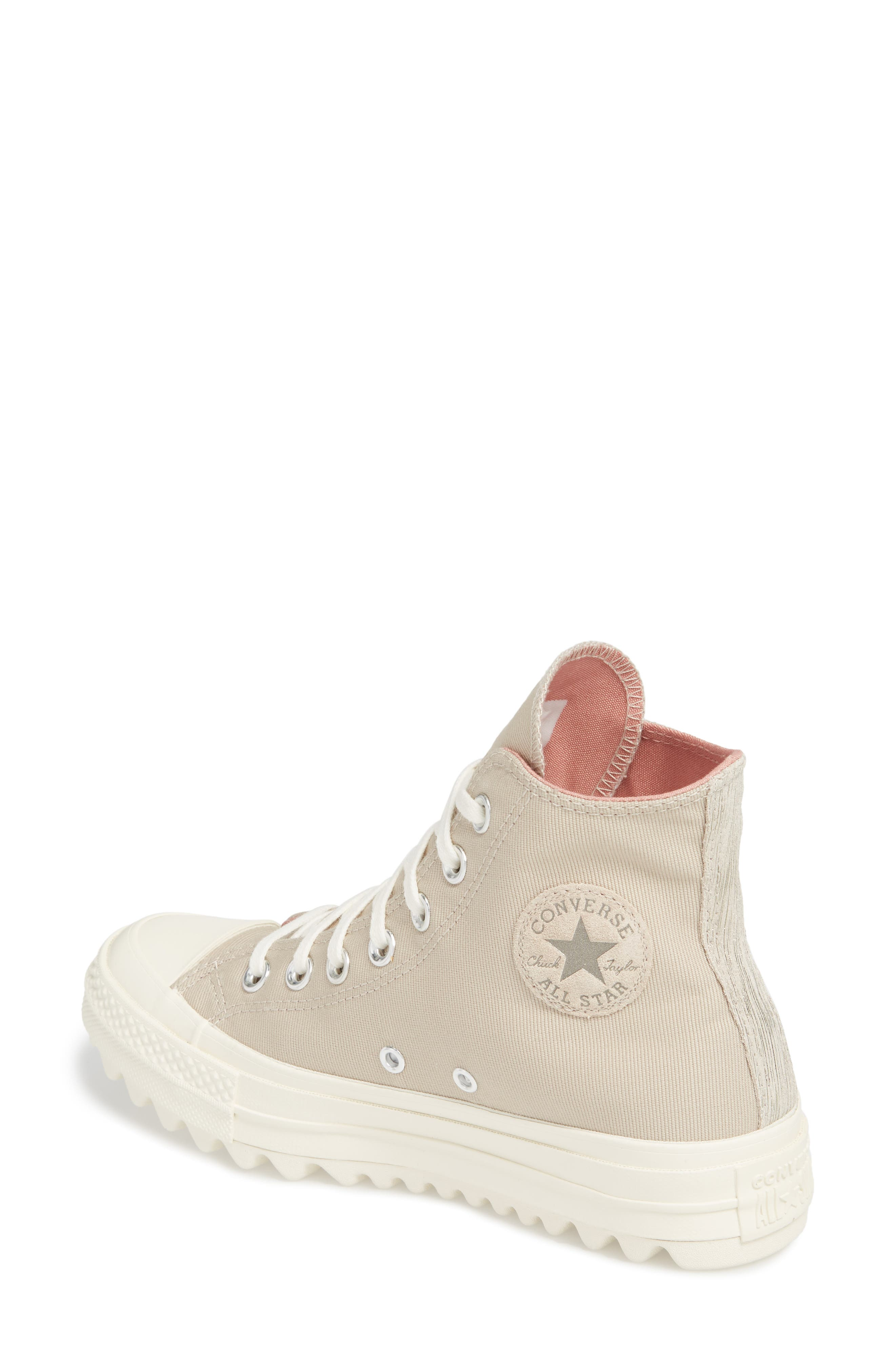 Chuck Taylor<sup>®</sup> All Star<sup>®</sup> Ripple High Top Sneaker,                             Alternate thumbnail 2, color,                             Papyrus Suede