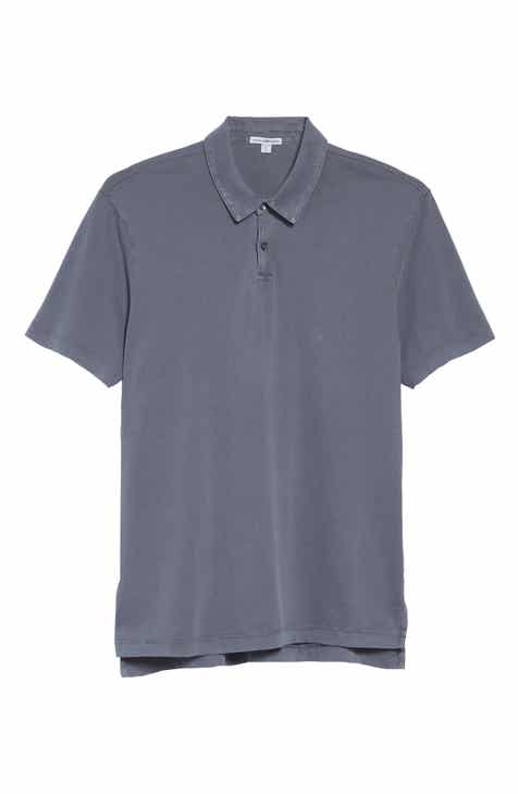 James Perse Slim Fit Sueded Jersey Polo d7dec2e967d40