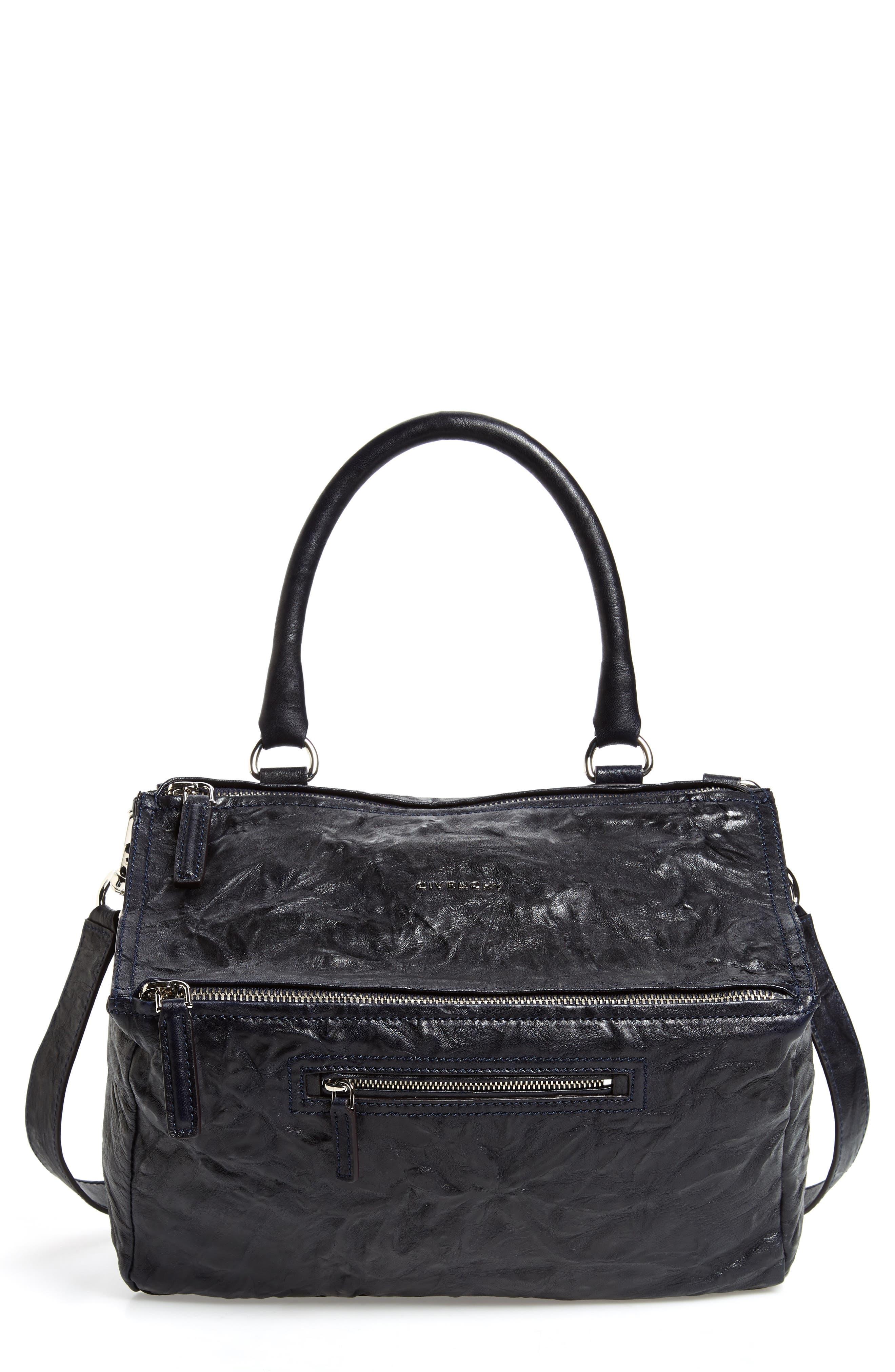 'Medium Pepe Pandora' Leather Satchel,                             Main thumbnail 1, color,                             Dark Blue
