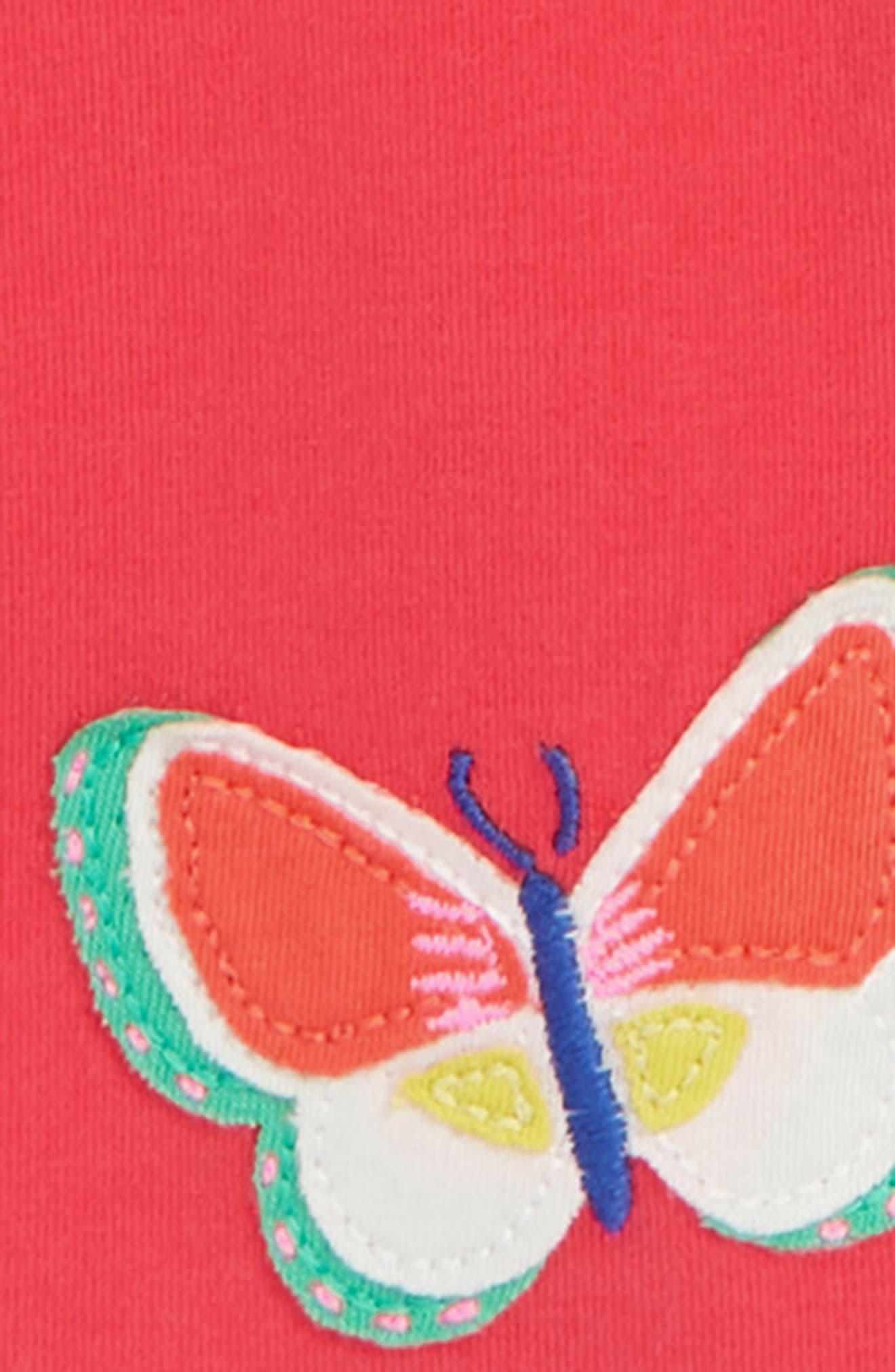 Appliqué Leggings,                             Alternate thumbnail 2, color,                             Raspberry Pink Butterflies