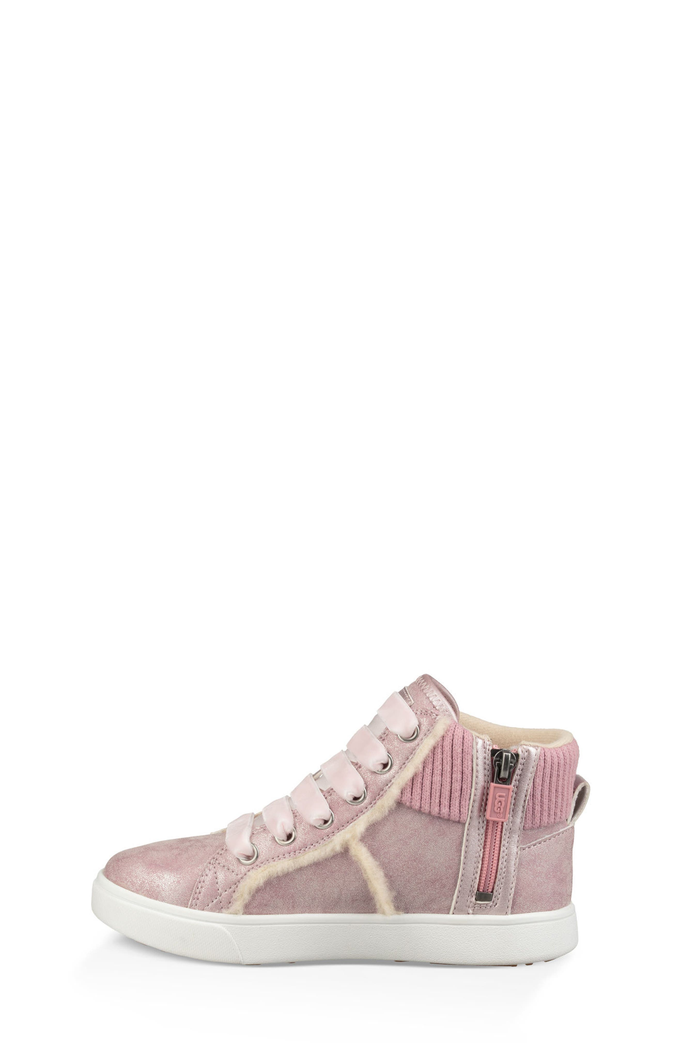 Addie Genuine Shearling High Top Sneaker,                             Alternate thumbnail 2, color,                             Cameo Pink