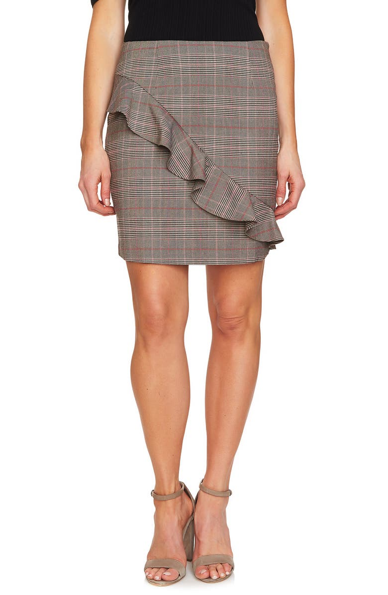 Glen Plaid Miniskirt