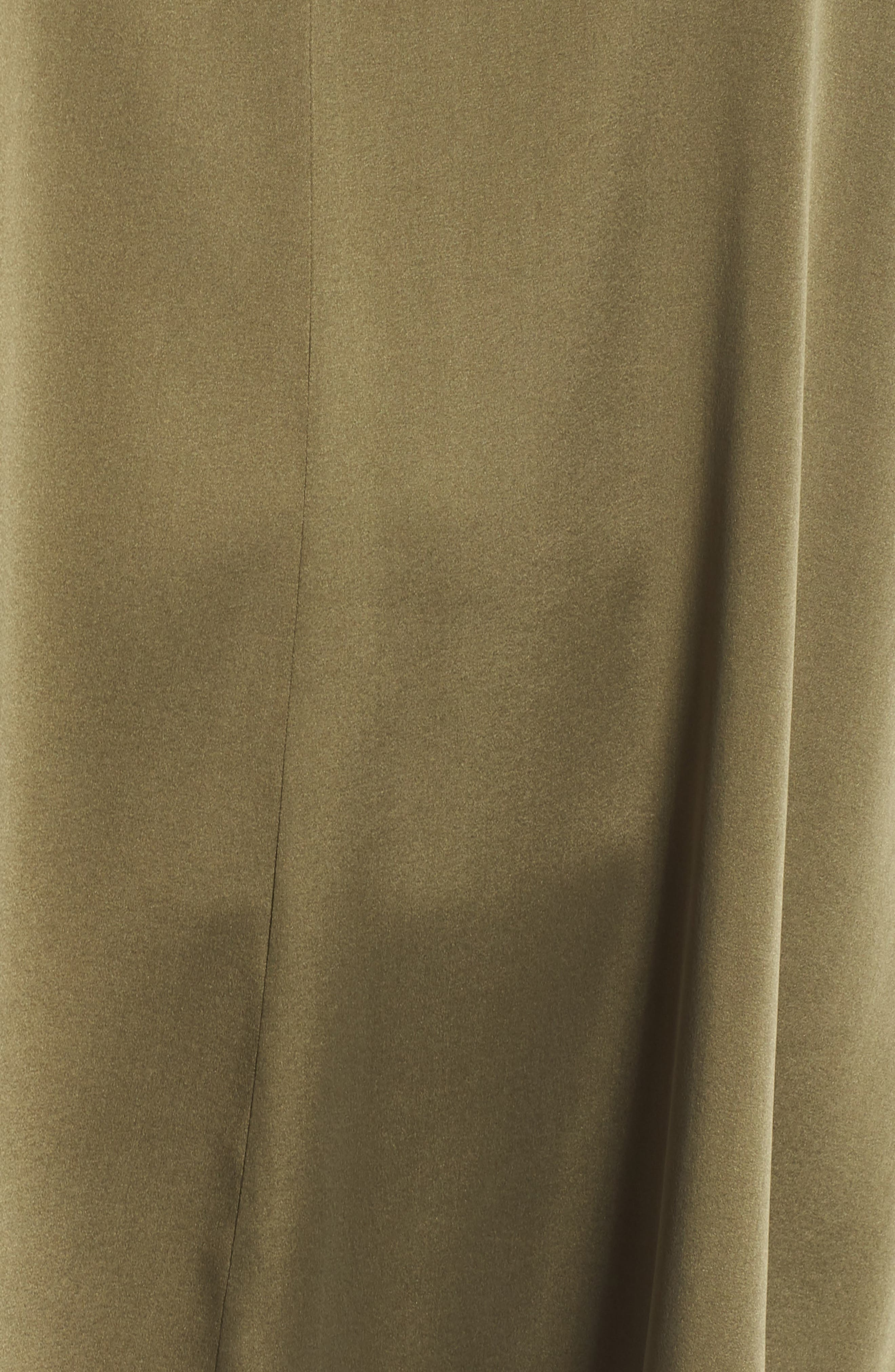 Stretch Silk Top,                             Alternate thumbnail 4, color,                             Olive