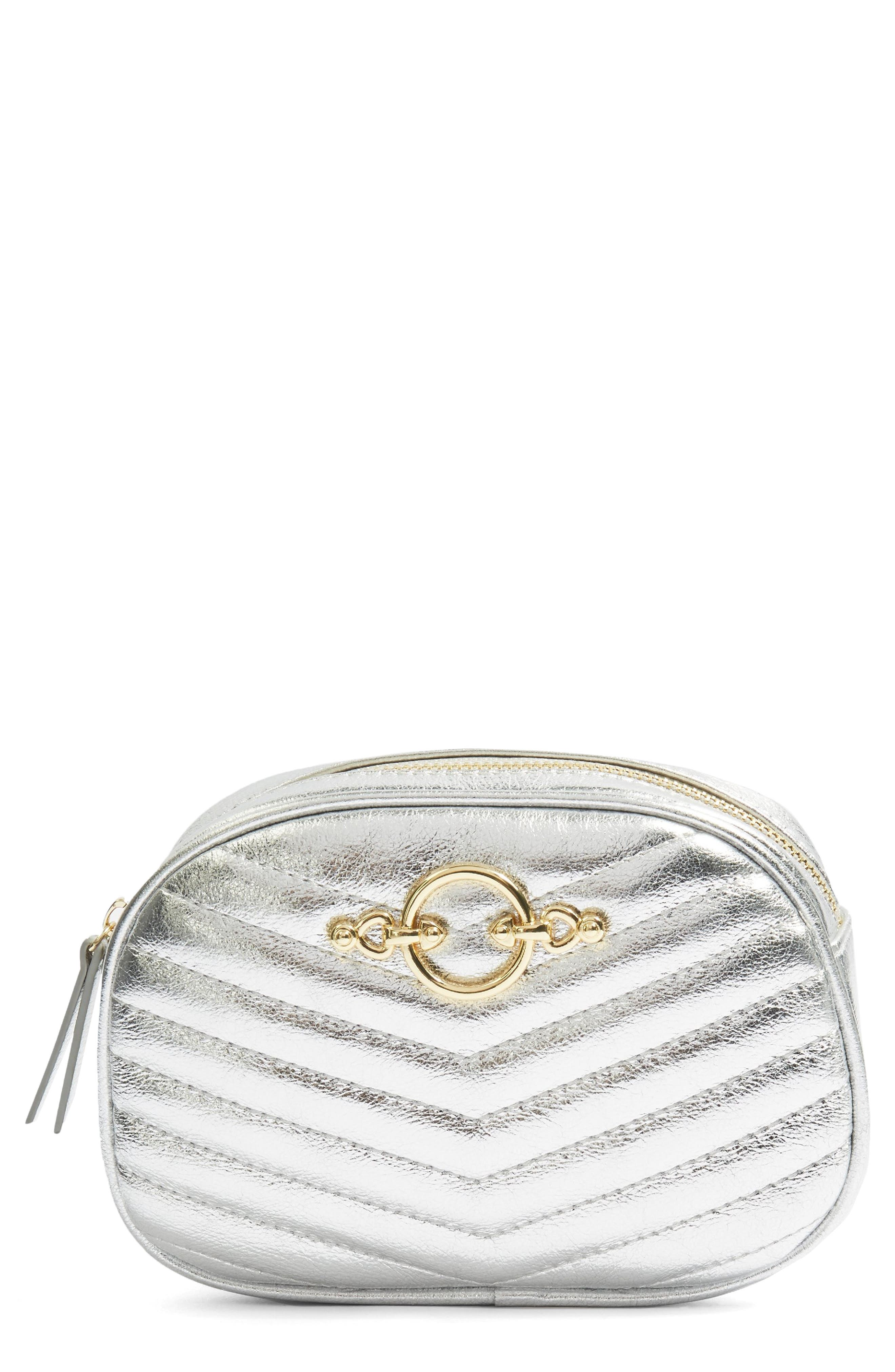 Queenie Quilted Bumbag,                             Main thumbnail 1, color,                             Silver Multi