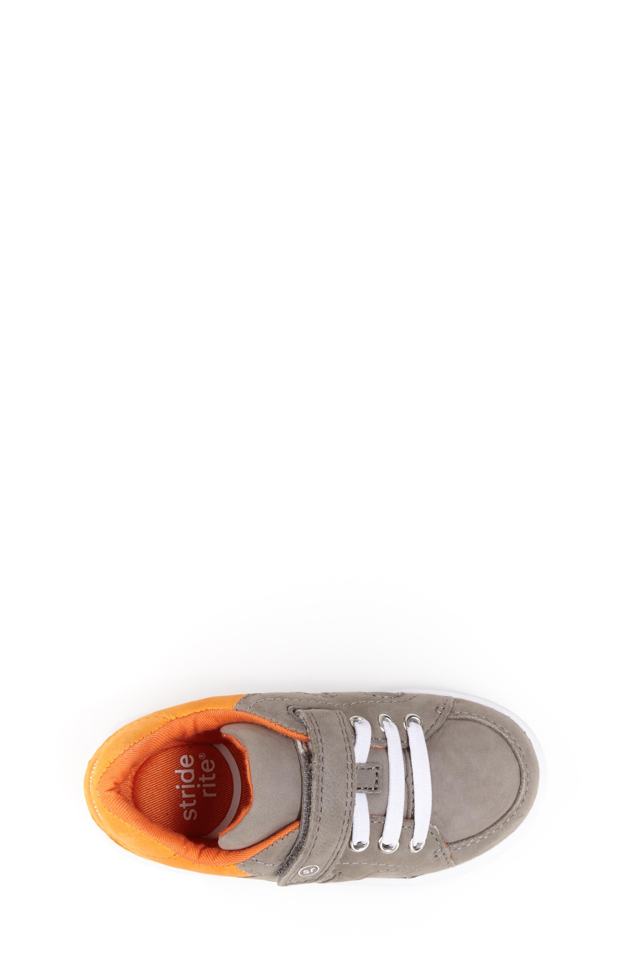 SRT Noe Sneaker,                             Alternate thumbnail 4, color,                             Grey/ Orange