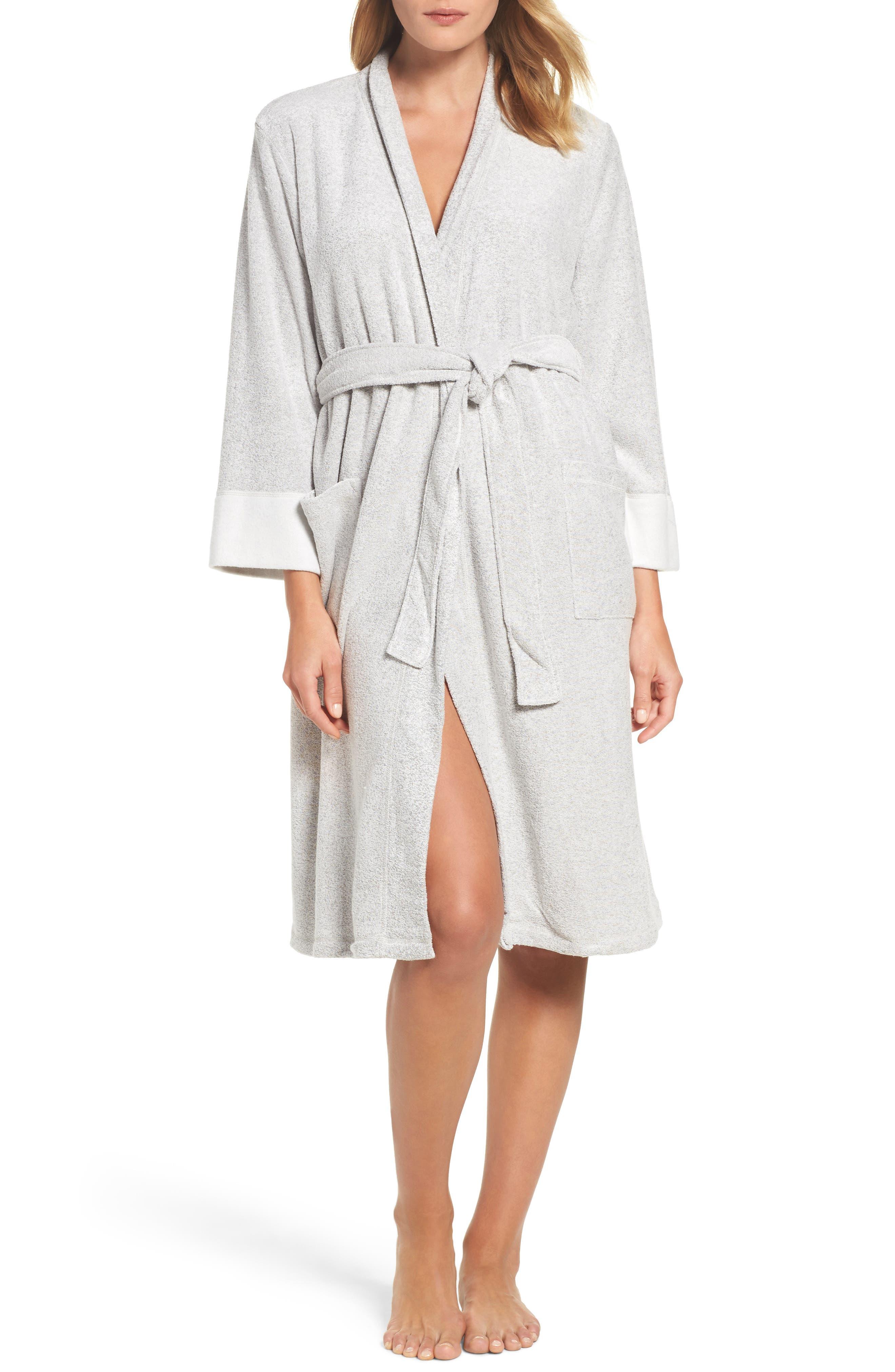 'Nirvana' Midi Robe,                         Main,                         color, Heather Grey