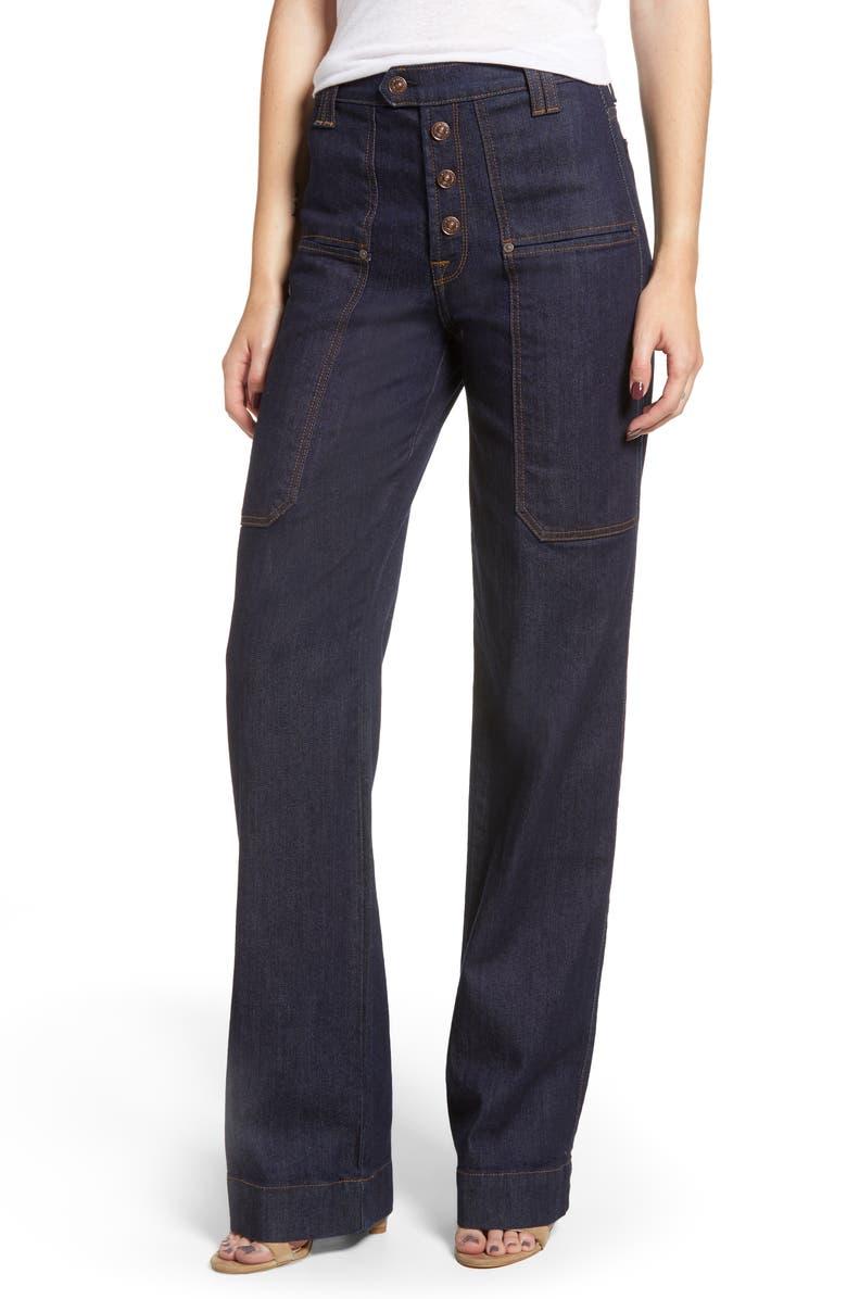 Alexa Utility Wide Leg Jeans