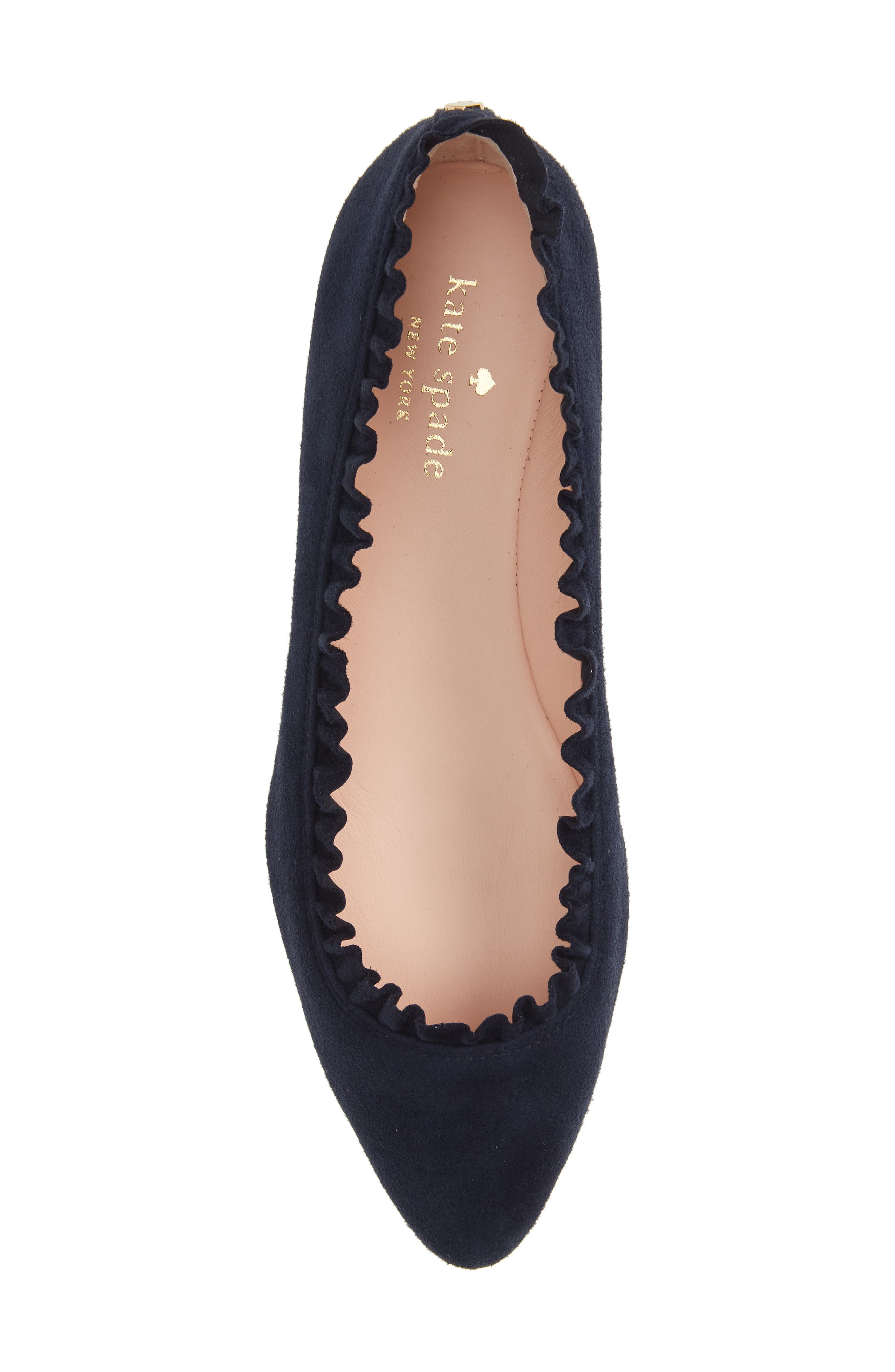nicole flat,                             Alternate thumbnail 4, color,                             Navy