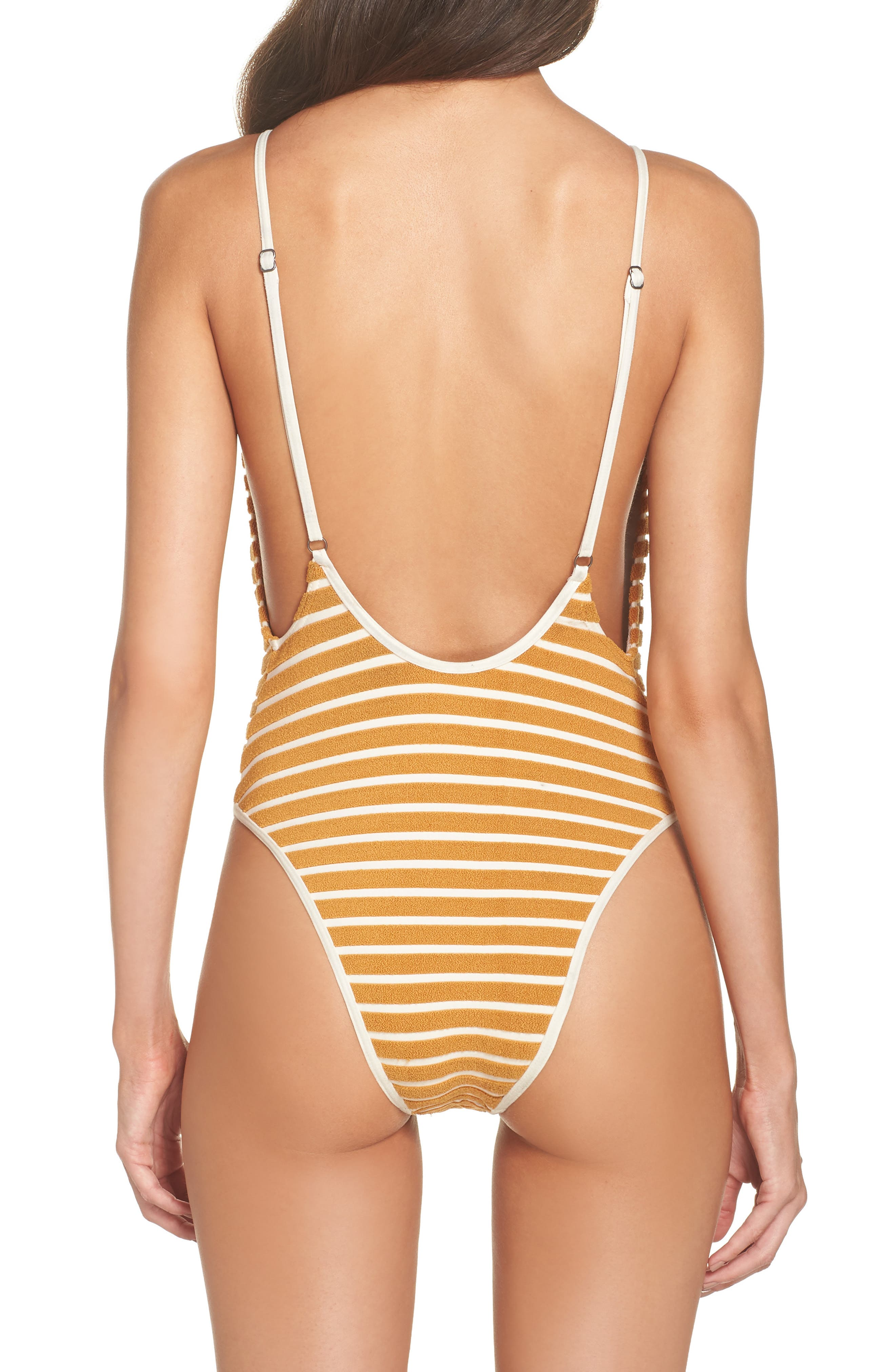 Honey Daze One-Piece Swimsuit,                             Alternate thumbnail 2, color,                             Honey Gold