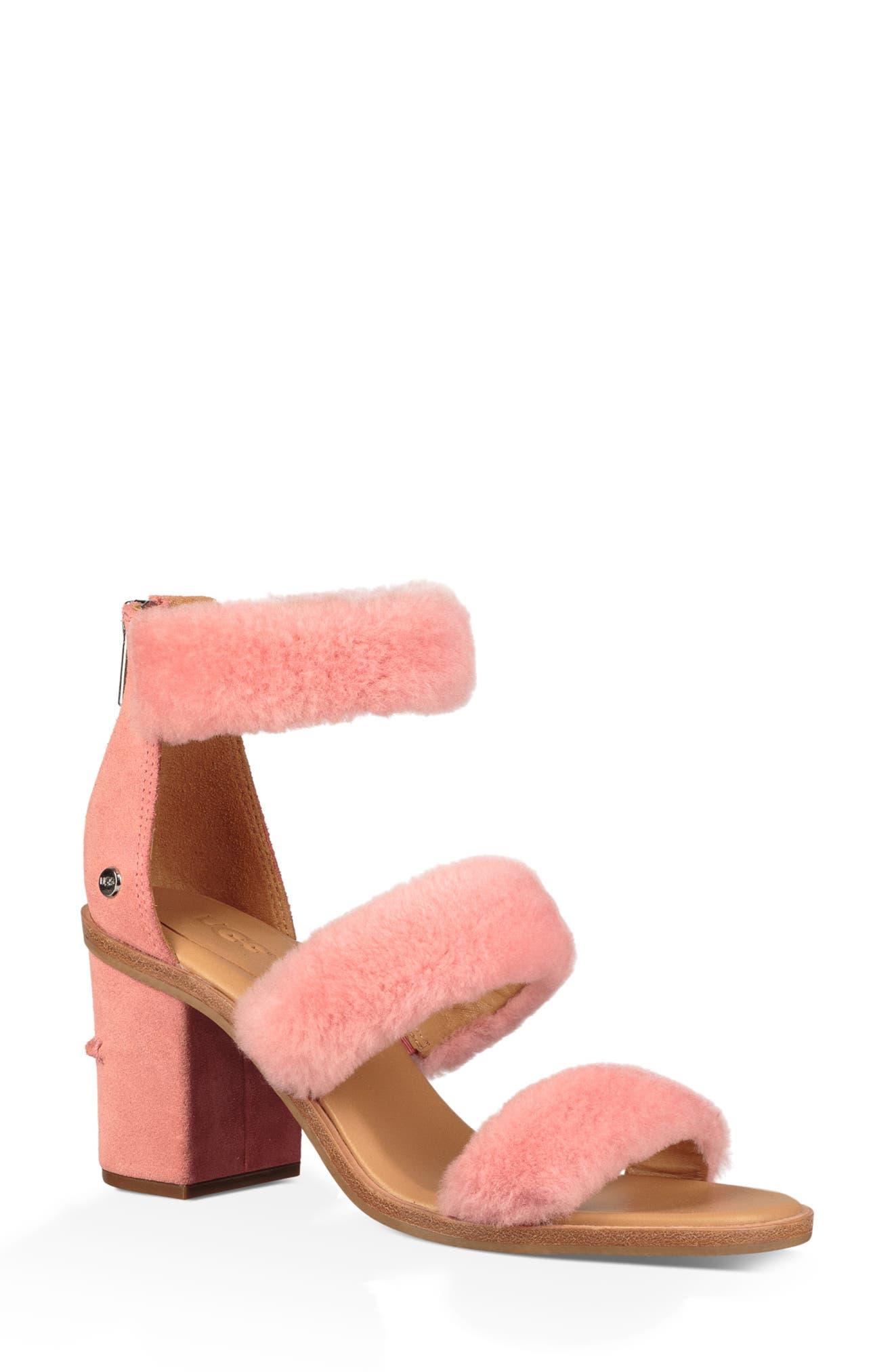 UGG® Dey Rey Genuine Shearling Sandal (Women)