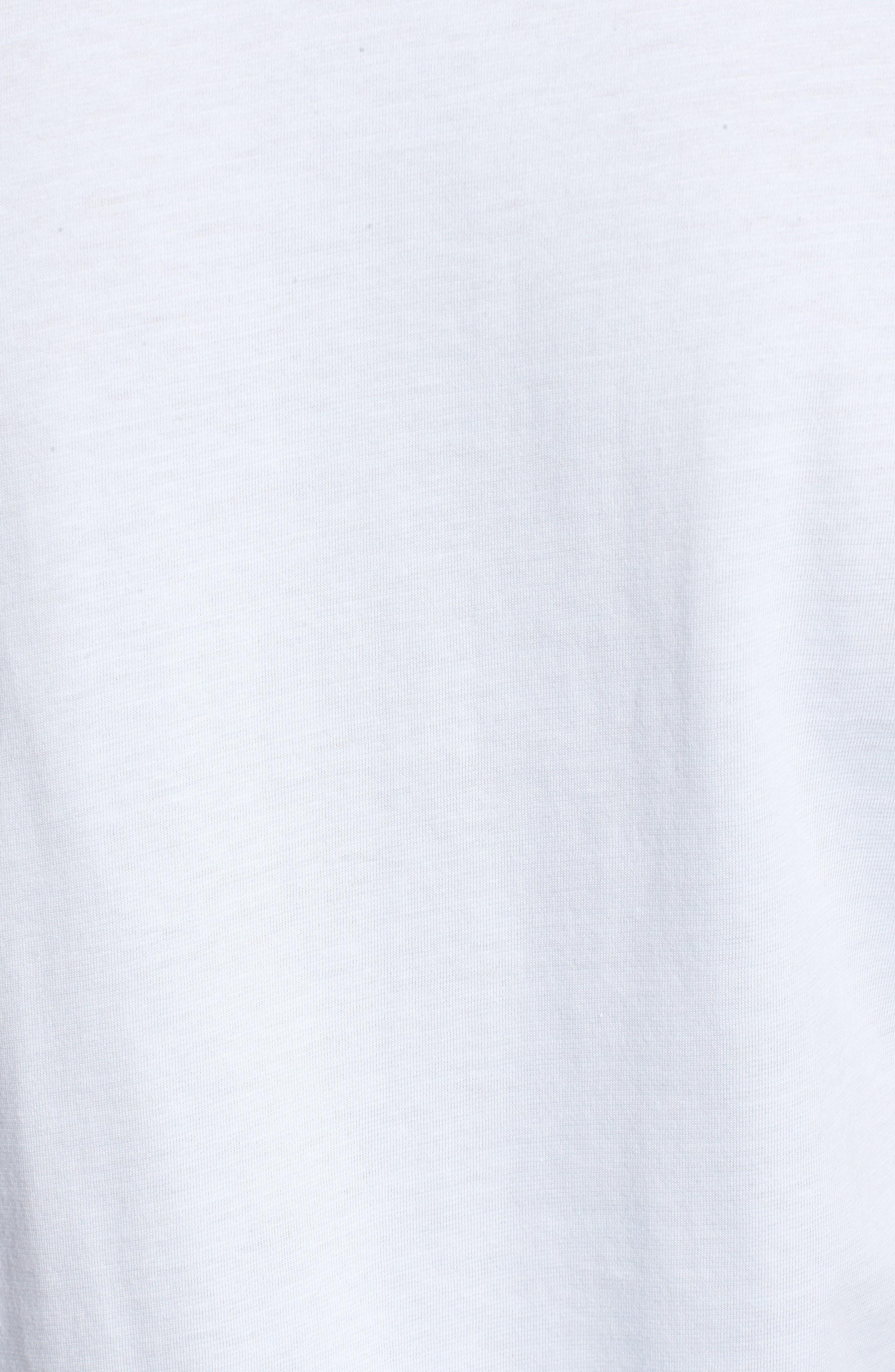 V-Neck Cotton T-Shirt,                             Alternate thumbnail 3, color,                             Rill/ White