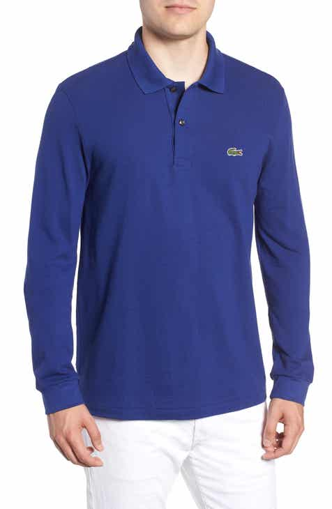 a49c42c84a Lacoste Regular Fit Long Sleeve Piqué Polo