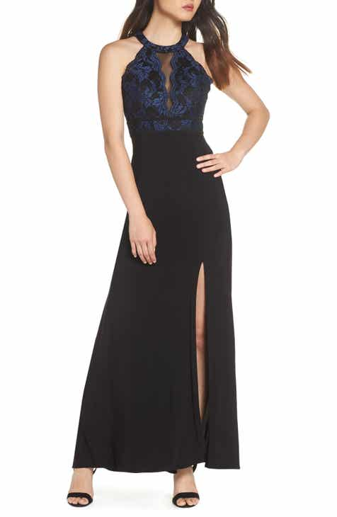 3925d84dd33 Morgan   Co. Lace Bodice Knit Gown