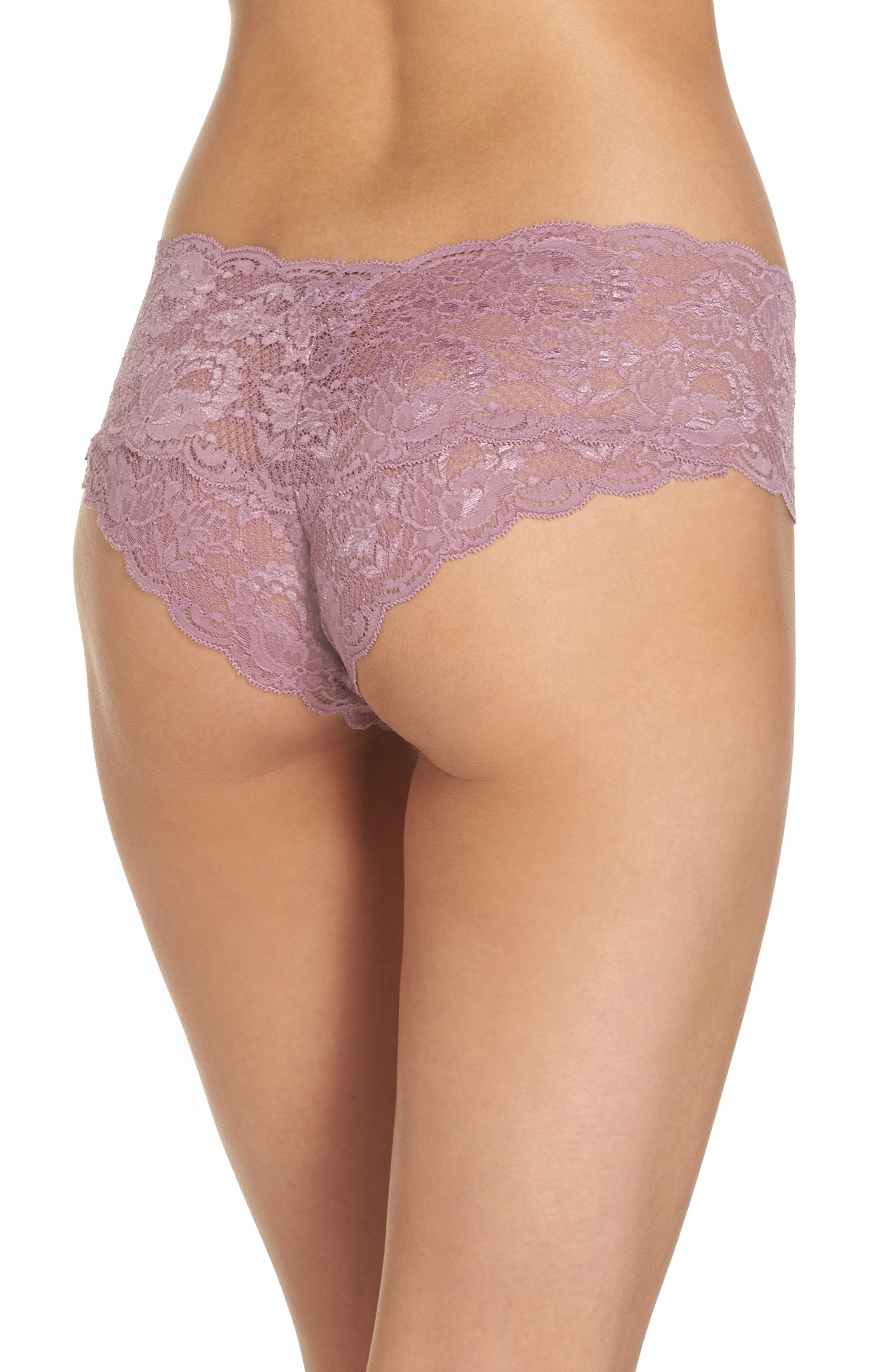 'Never Say Never' Hipster Briefs,                             Alternate thumbnail 2, color,                             Grape