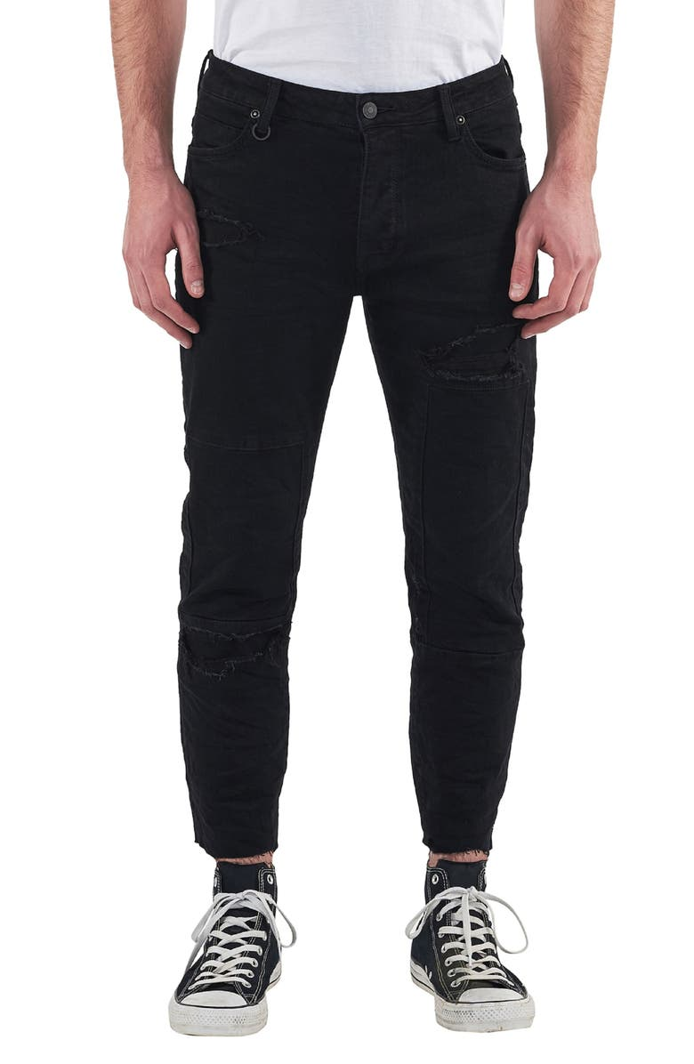 Lou Distressed Skinny Fit Jeans