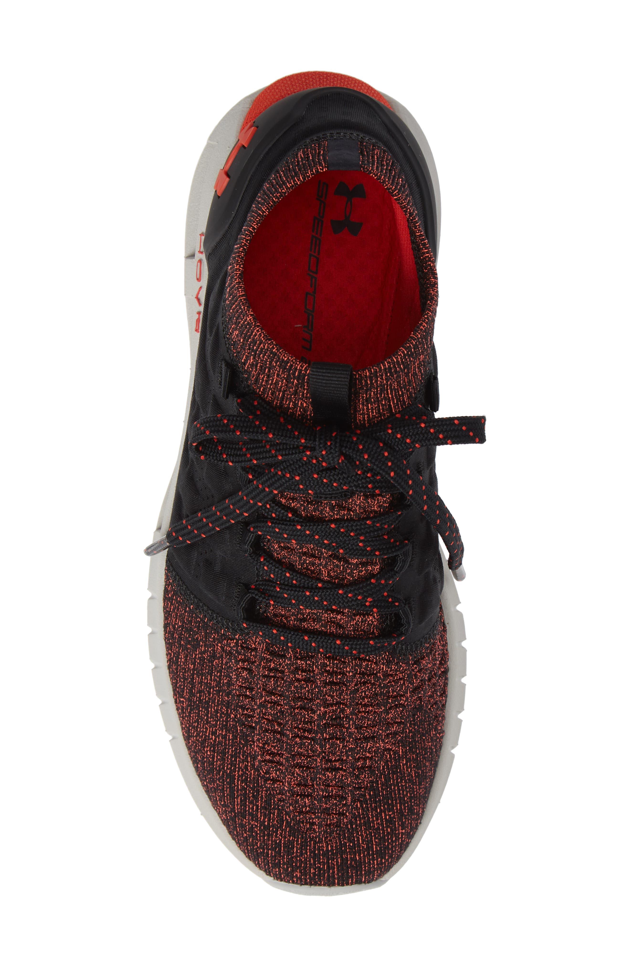 HOVR Phantom NC Sneaker,                             Alternate thumbnail 3, color,                             Black/ Ghost Grey/ Radio Red