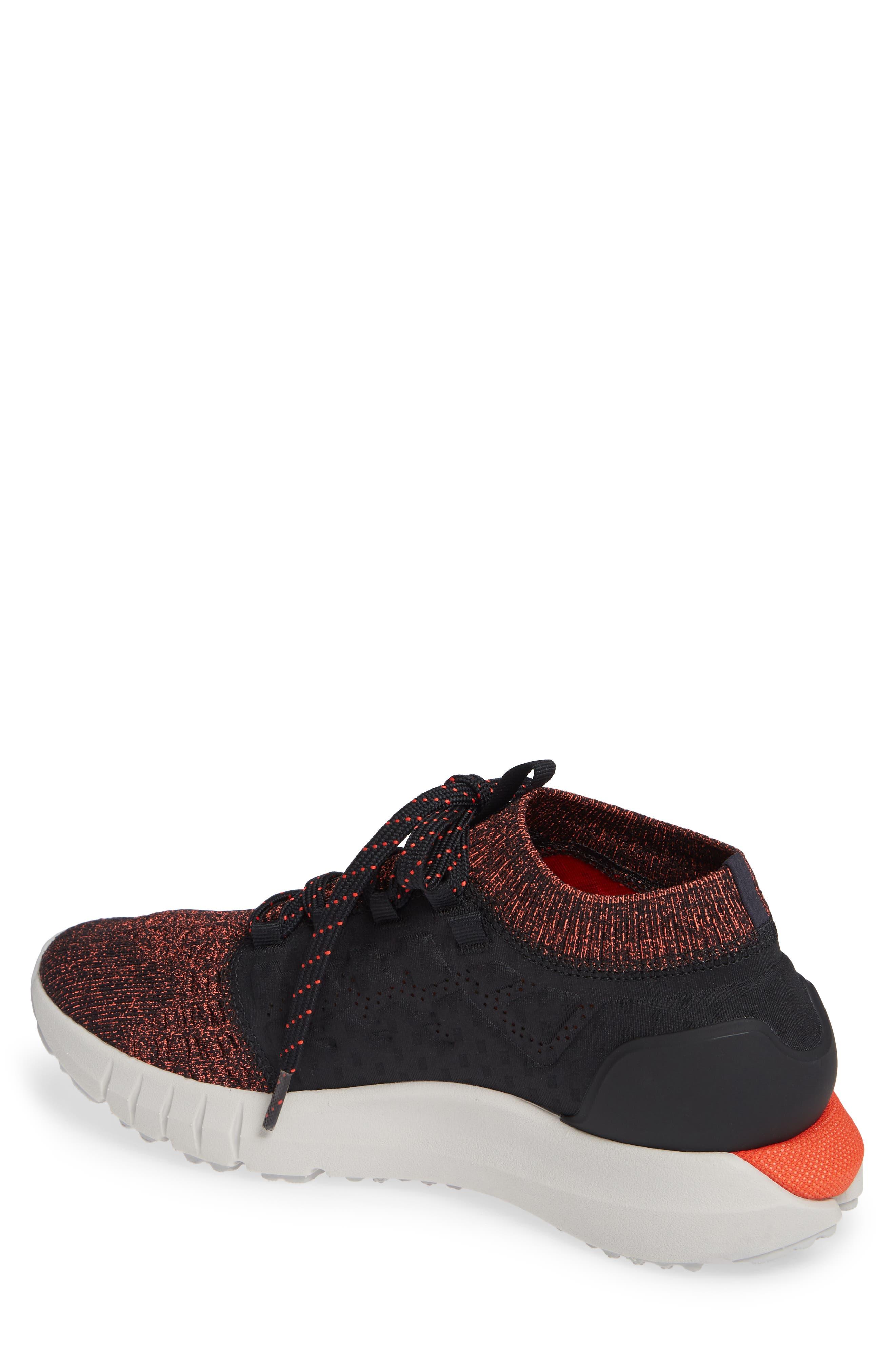 HOVR Phantom NC Sneaker,                             Alternate thumbnail 2, color,                             Black/ Ghost Grey/ Radio Red