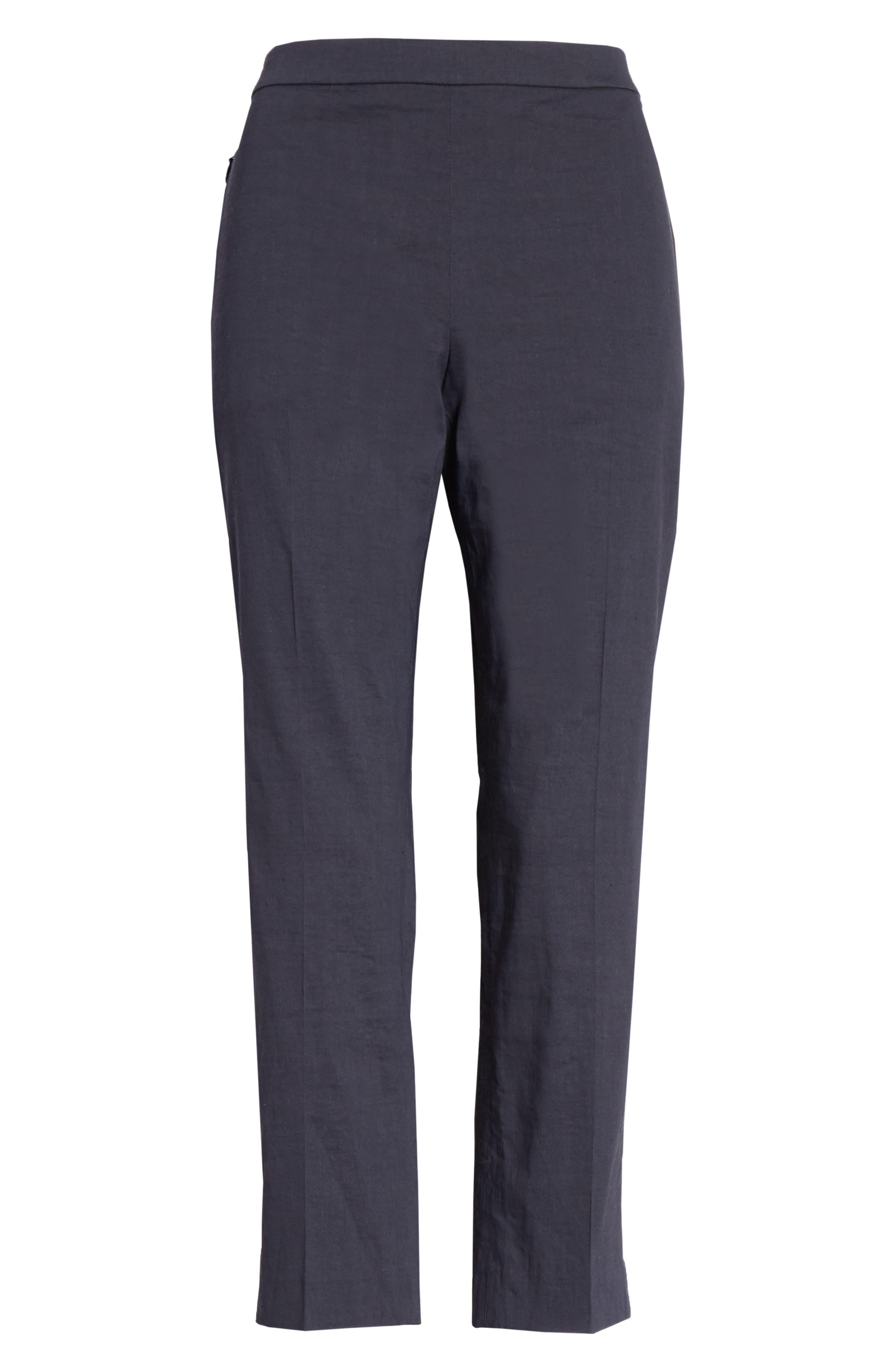 Pull-On Linen Blend Pants,                             Alternate thumbnail 6, color,                             Concord