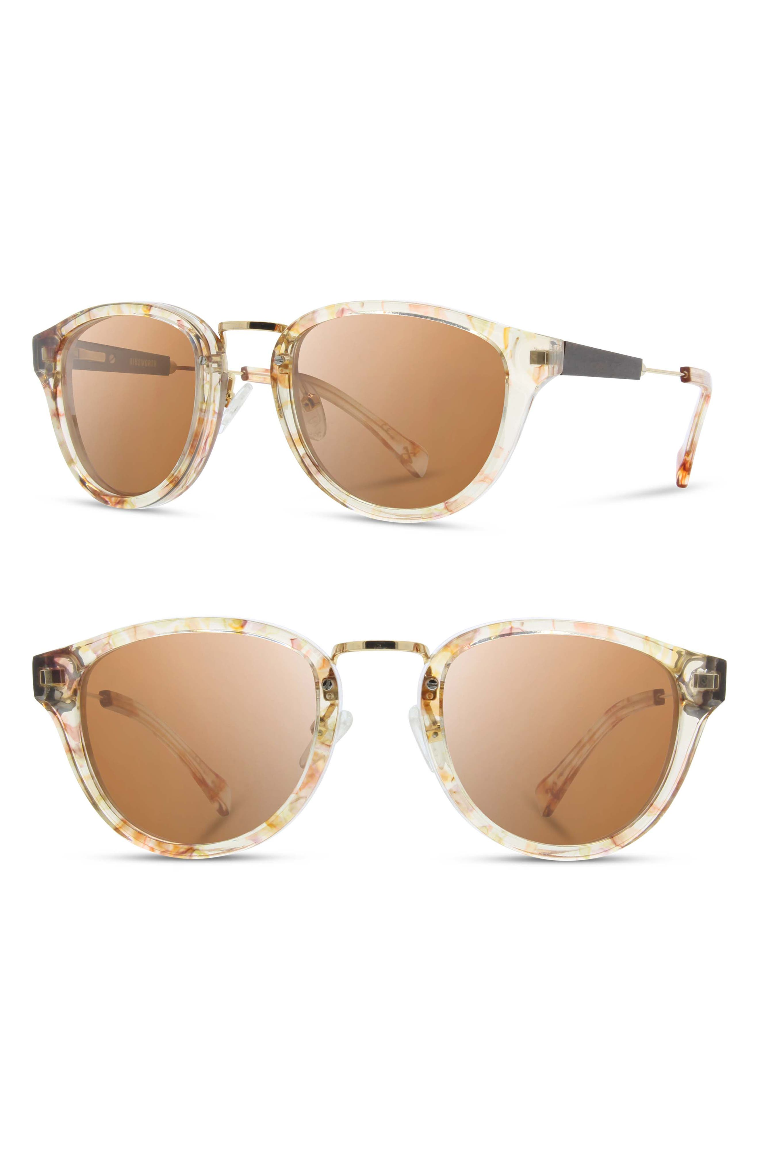 'Ainsworth' 49mm Polarized Sunglasses,                             Main thumbnail 1, color,                             Blossom/ Gold/ Brown