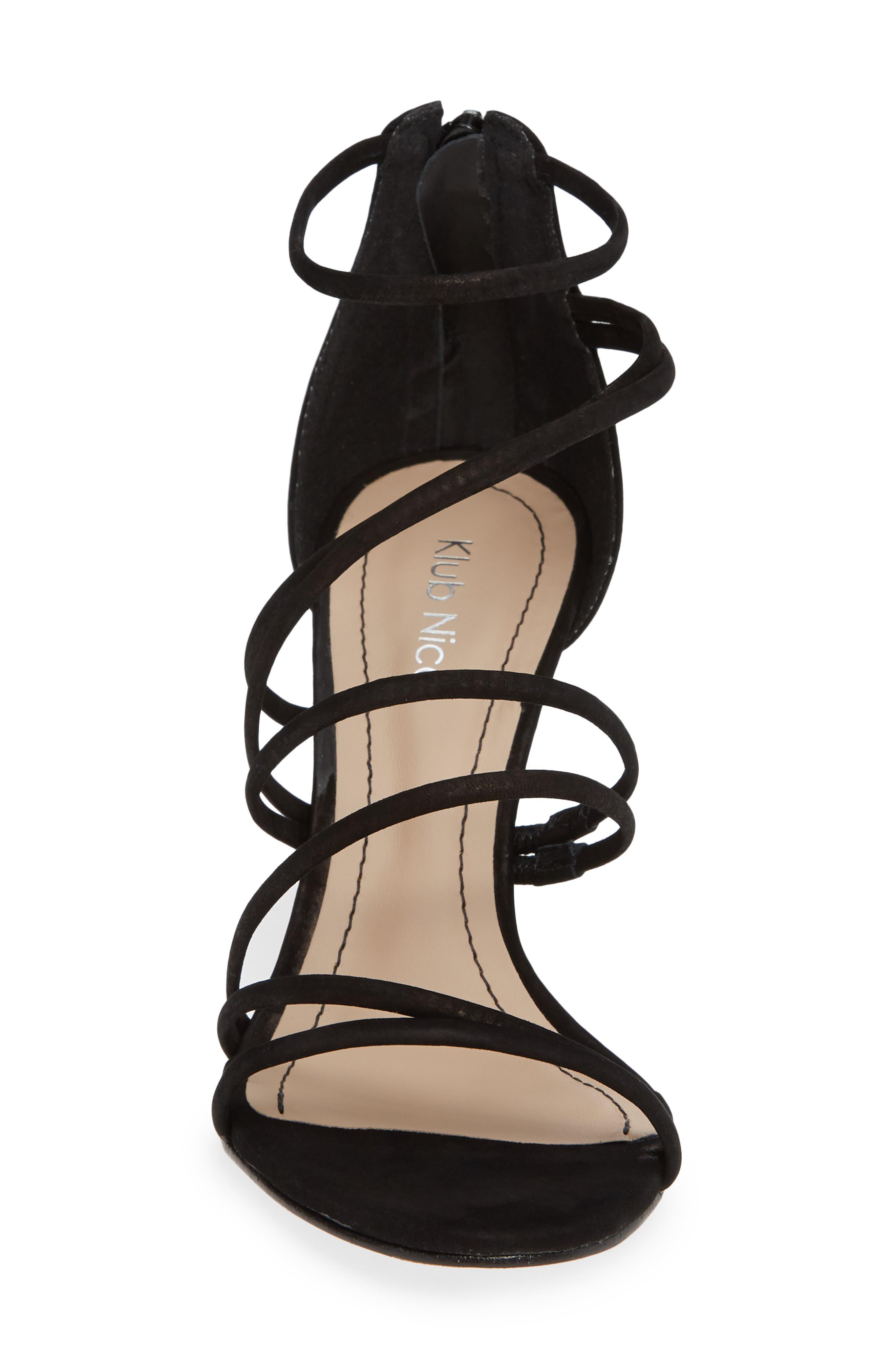 Ashton Sandal,                             Alternate thumbnail 3, color,                             Black Leather