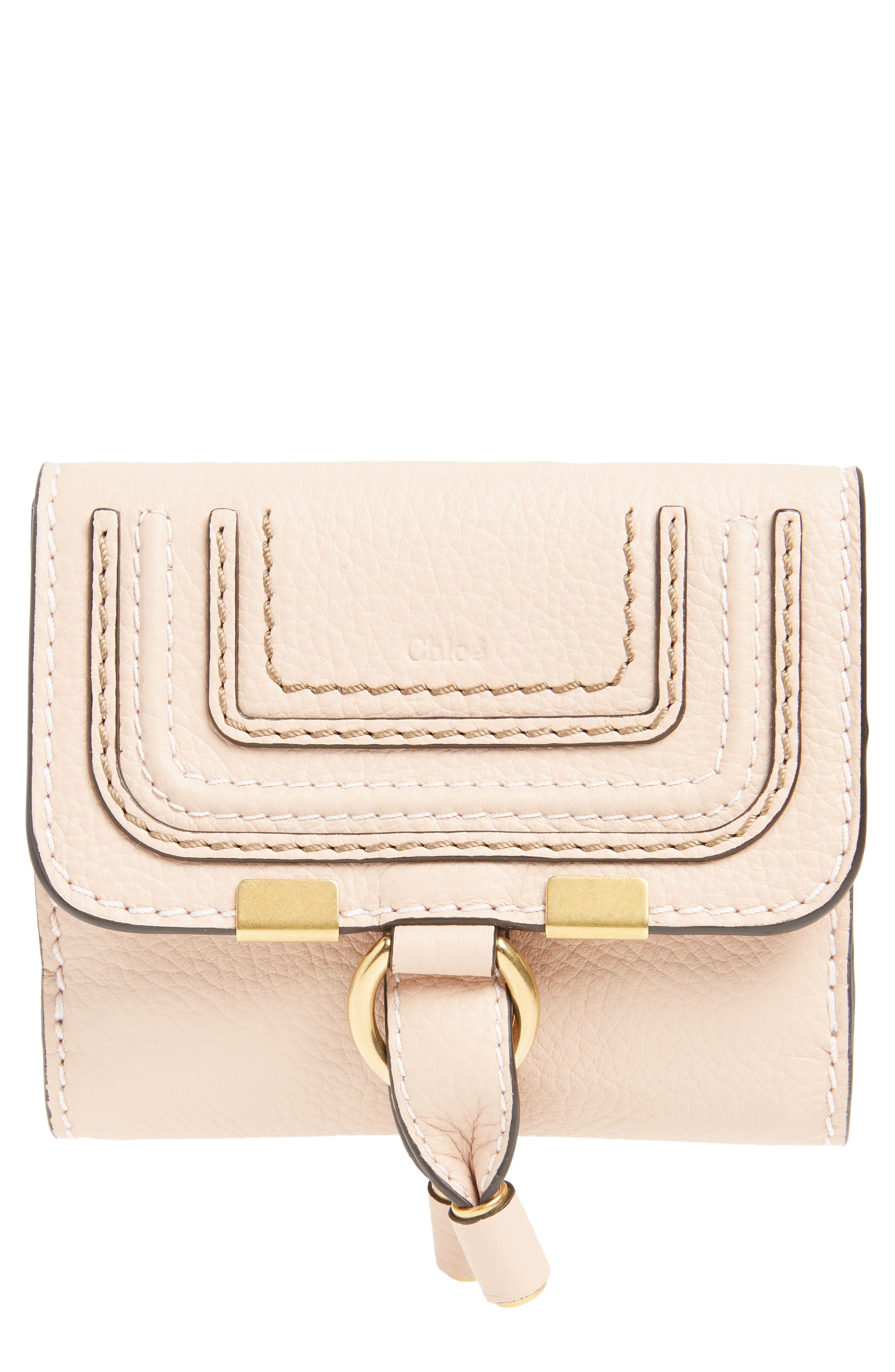 'Marcie' French Wallet,                             Main thumbnail 1, color,                             Blush Nude