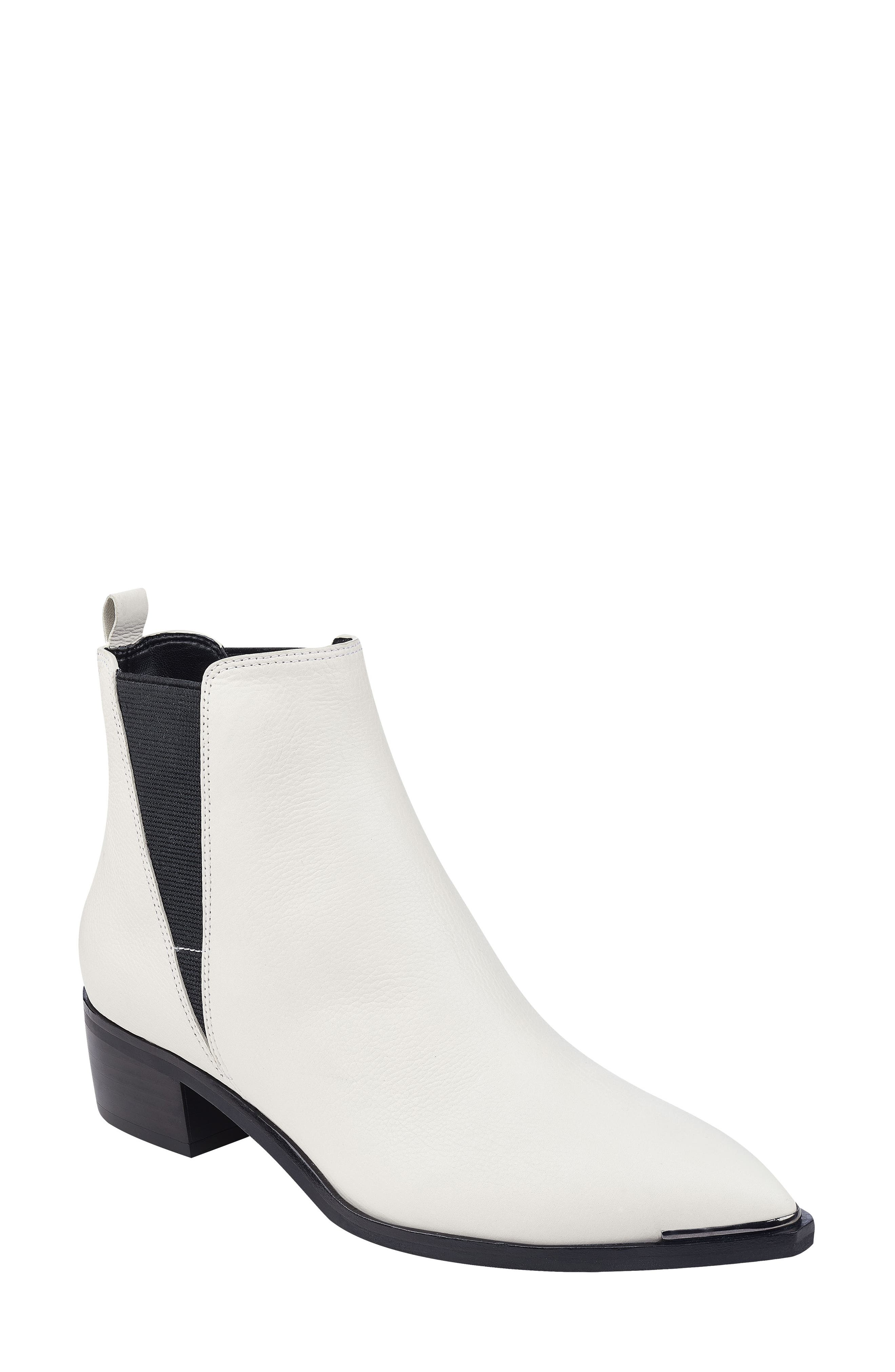 'Yale' Chelsea Boot,                         Main,                         color, Ivory Leather