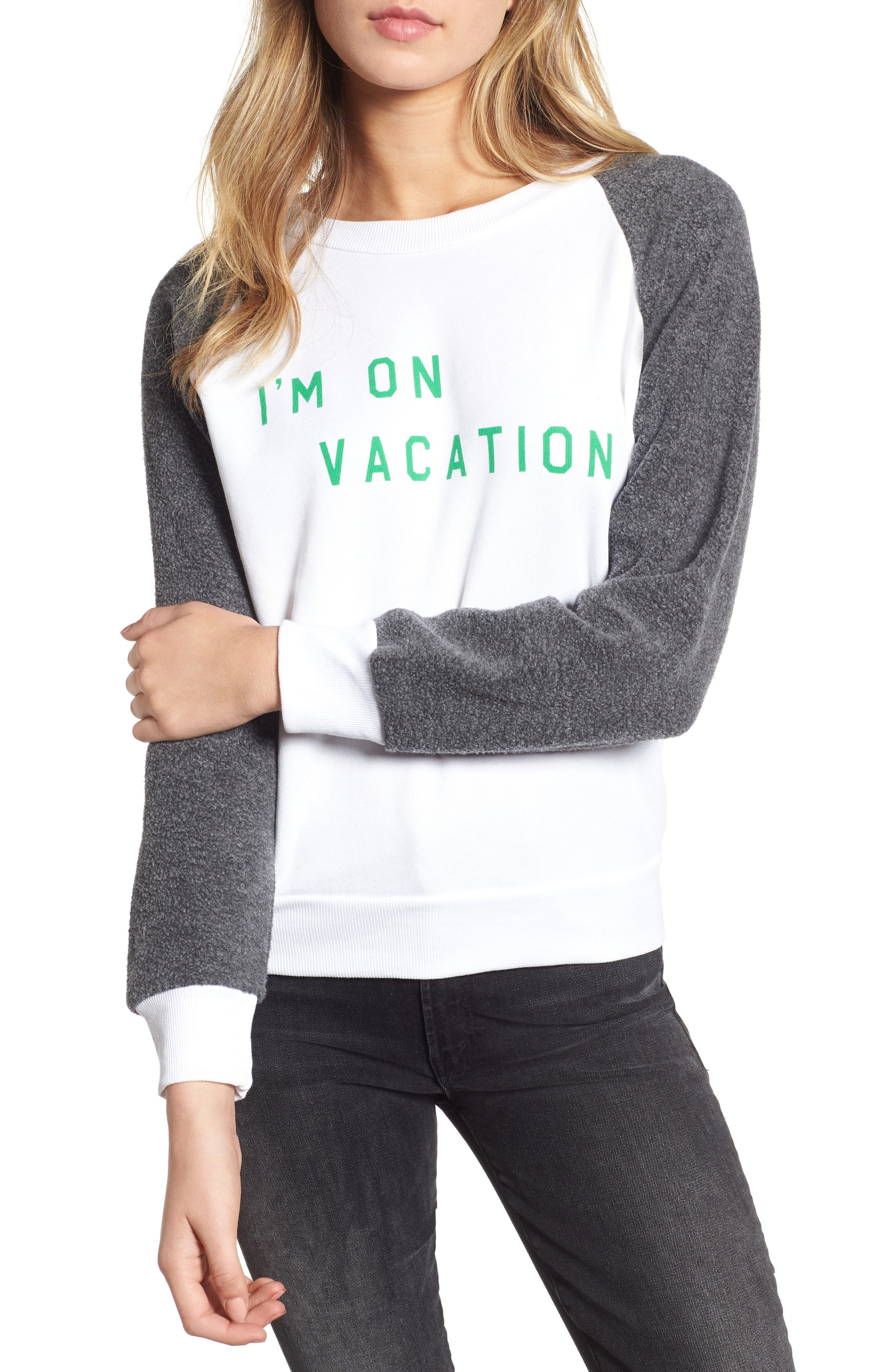 WILDFOX I'M ON VACATION PULLOVER