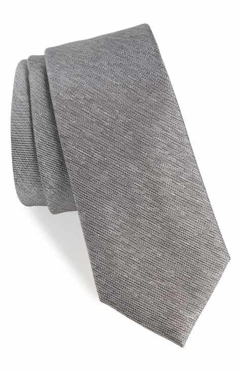 1901 Andrews Solid Skinny Silk Tie