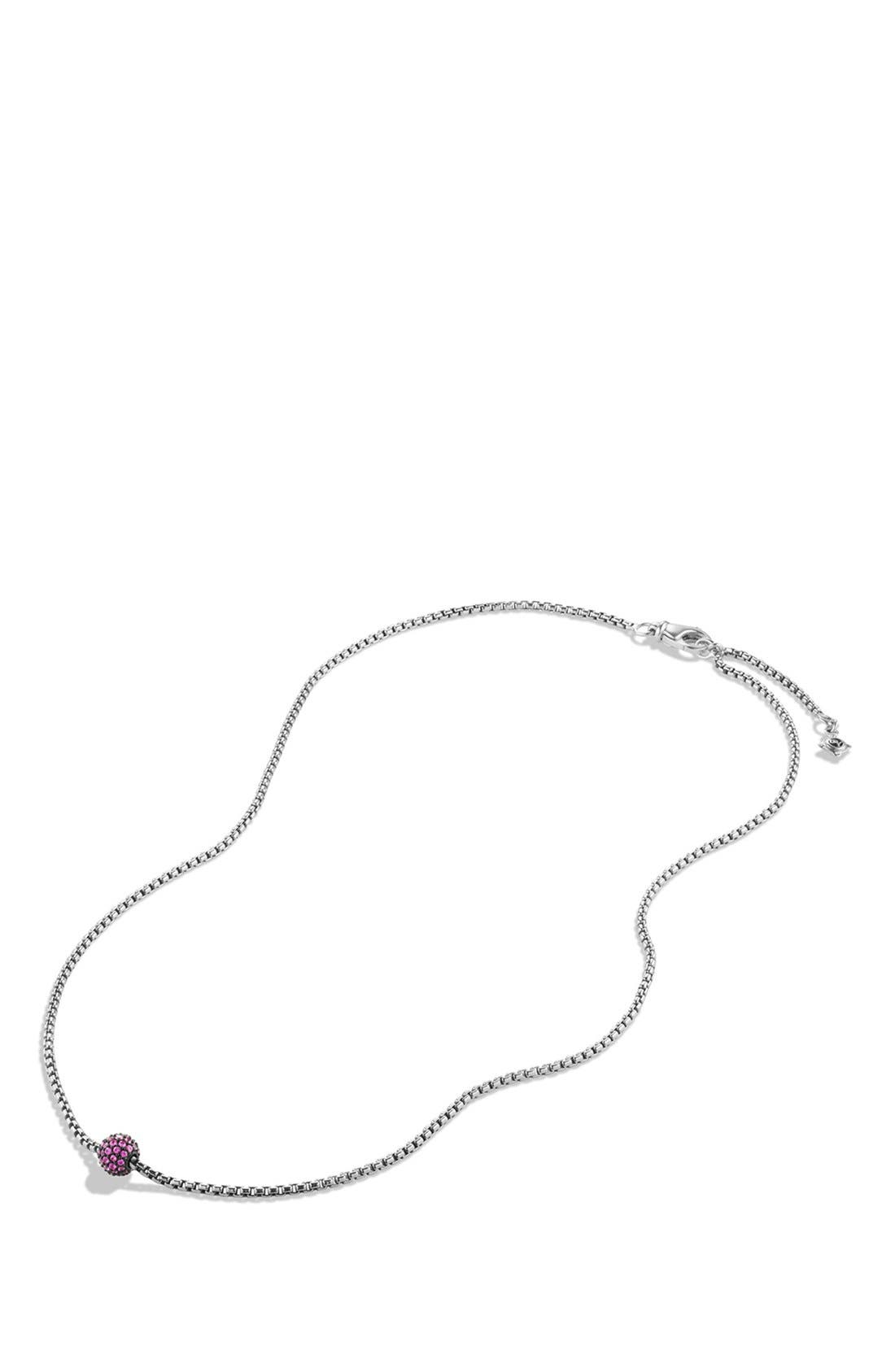 Alternate Image 2  - David Yurman 'Metro' Petite Pavé Chain Necklace with Sapphires