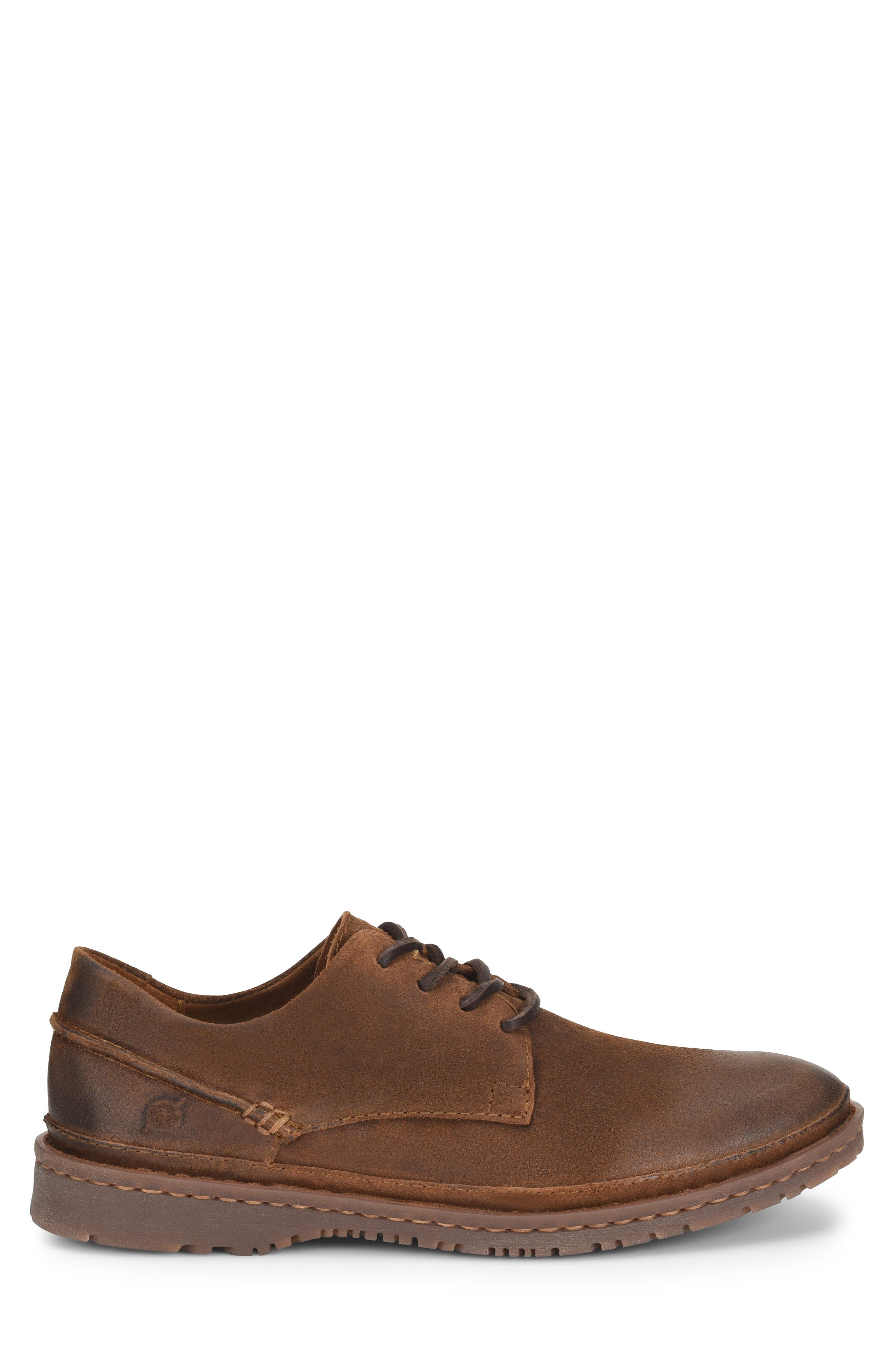 Gilles Plain Toe Derby,                             Alternate thumbnail 5, color,                             Brown/Brown Leather