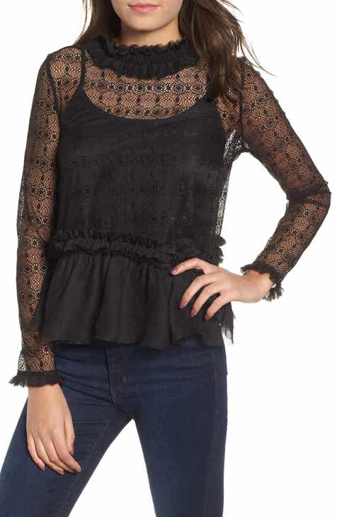f15476891e KENDALL + KYLIE Victorian Lace Top