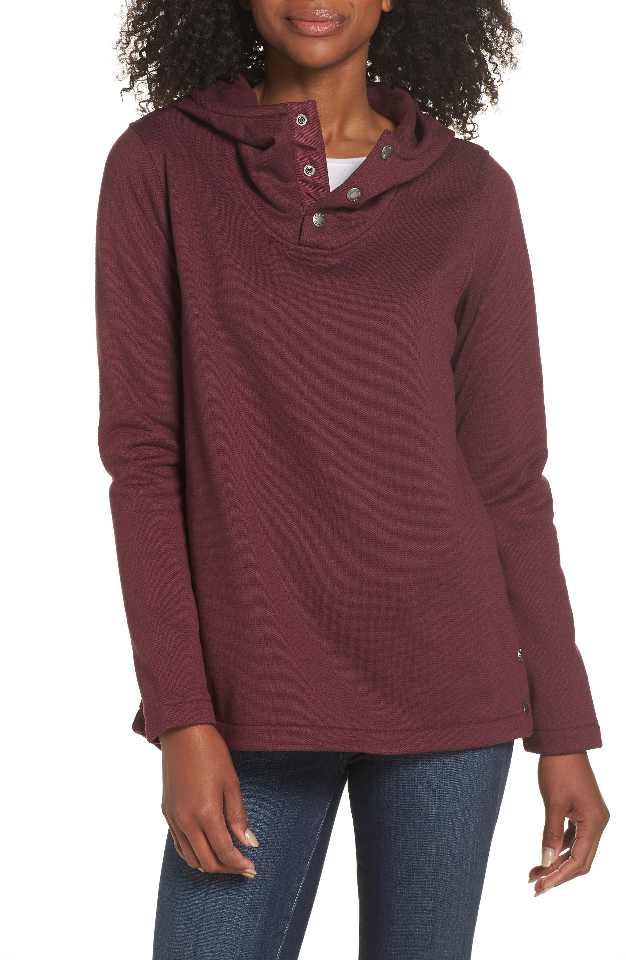 KNIT STITCH FLEECE HOODIE from Nordstrom