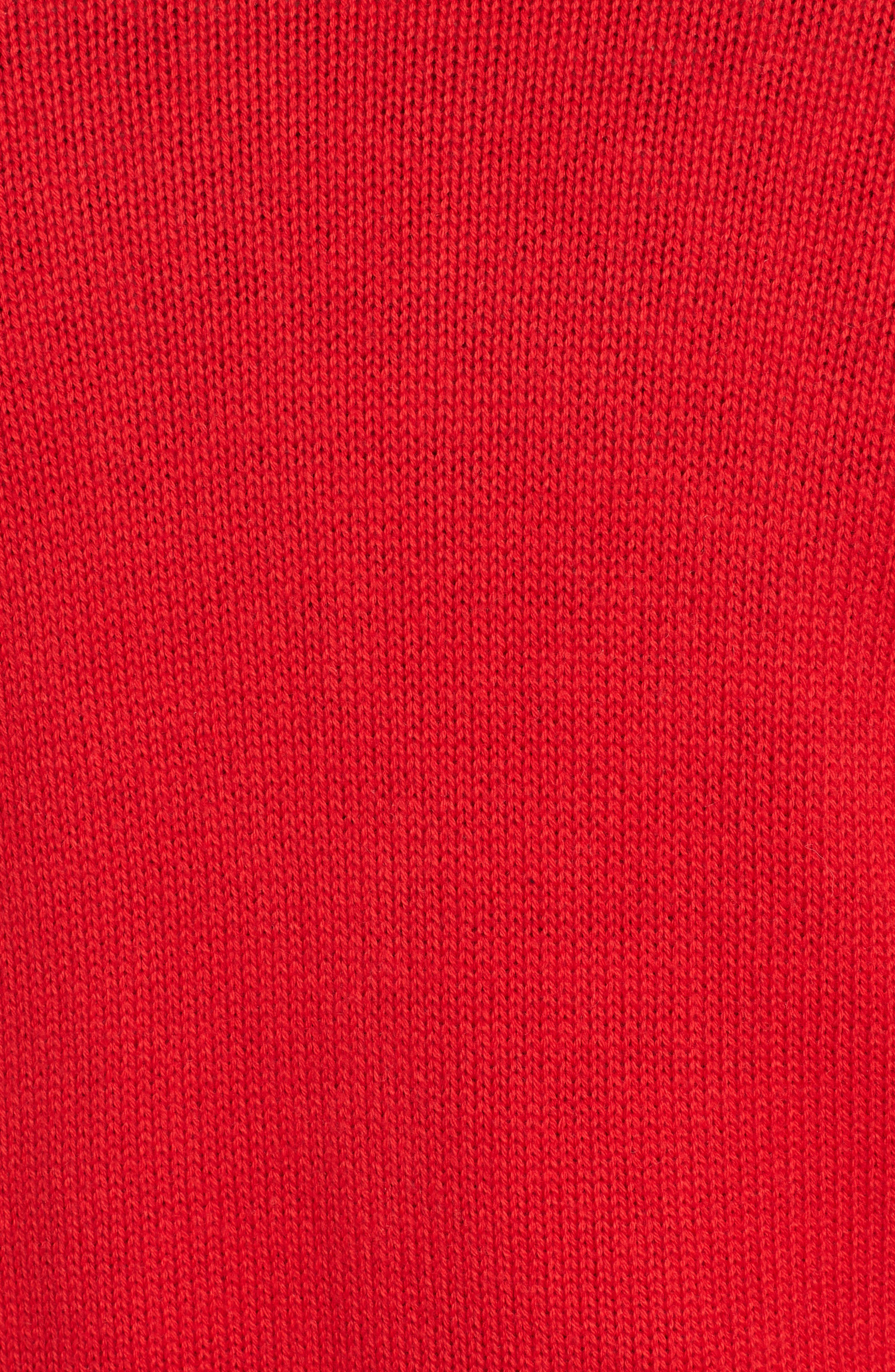 Cotton Cashmere Colorblock Cardigan,                             Alternate thumbnail 6, color,                             Red Chinoise