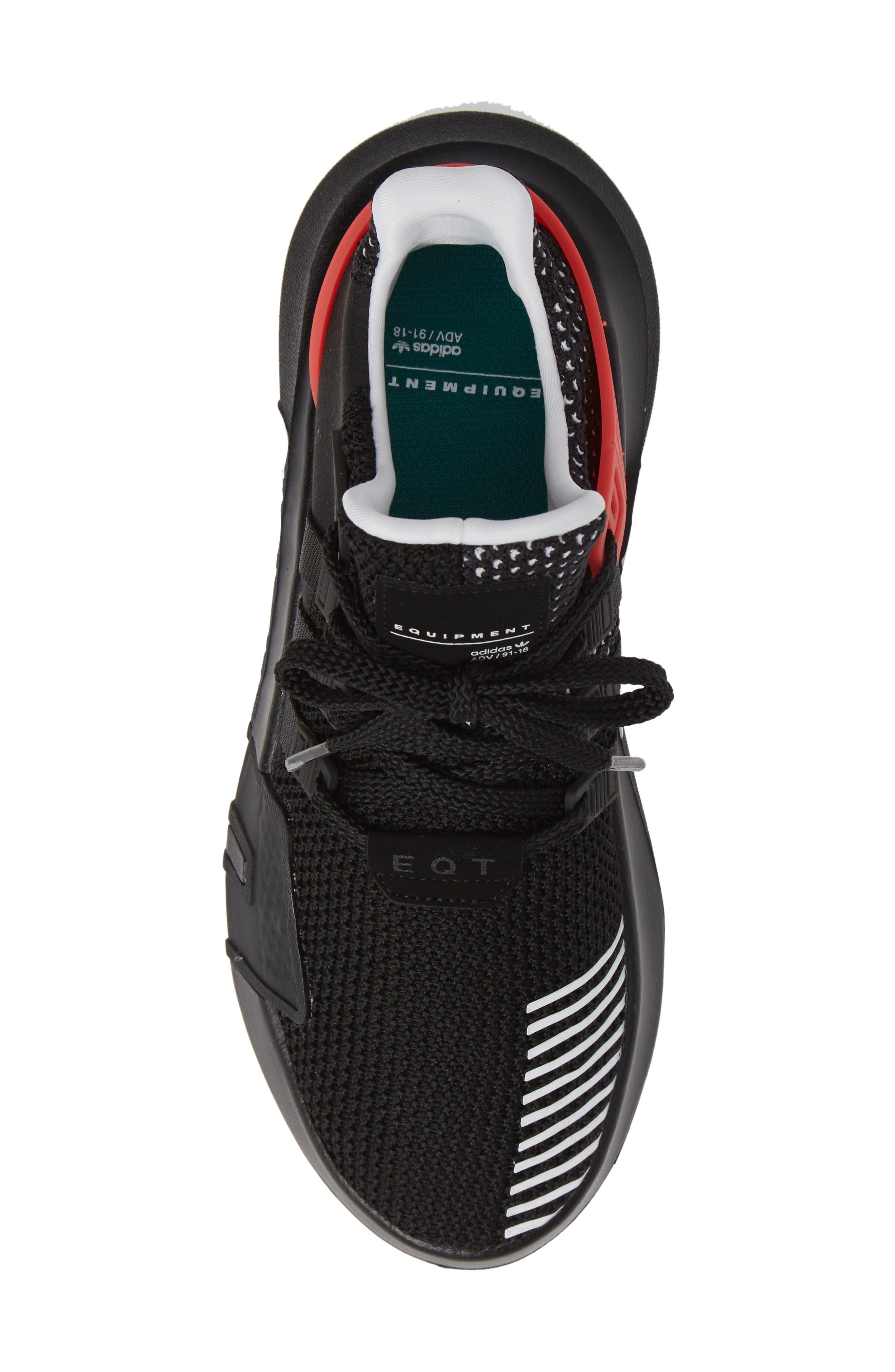 EQT Basketball ADV Sneaker,                             Alternate thumbnail 5, color,                             Black/ White/ Hi-Res Red