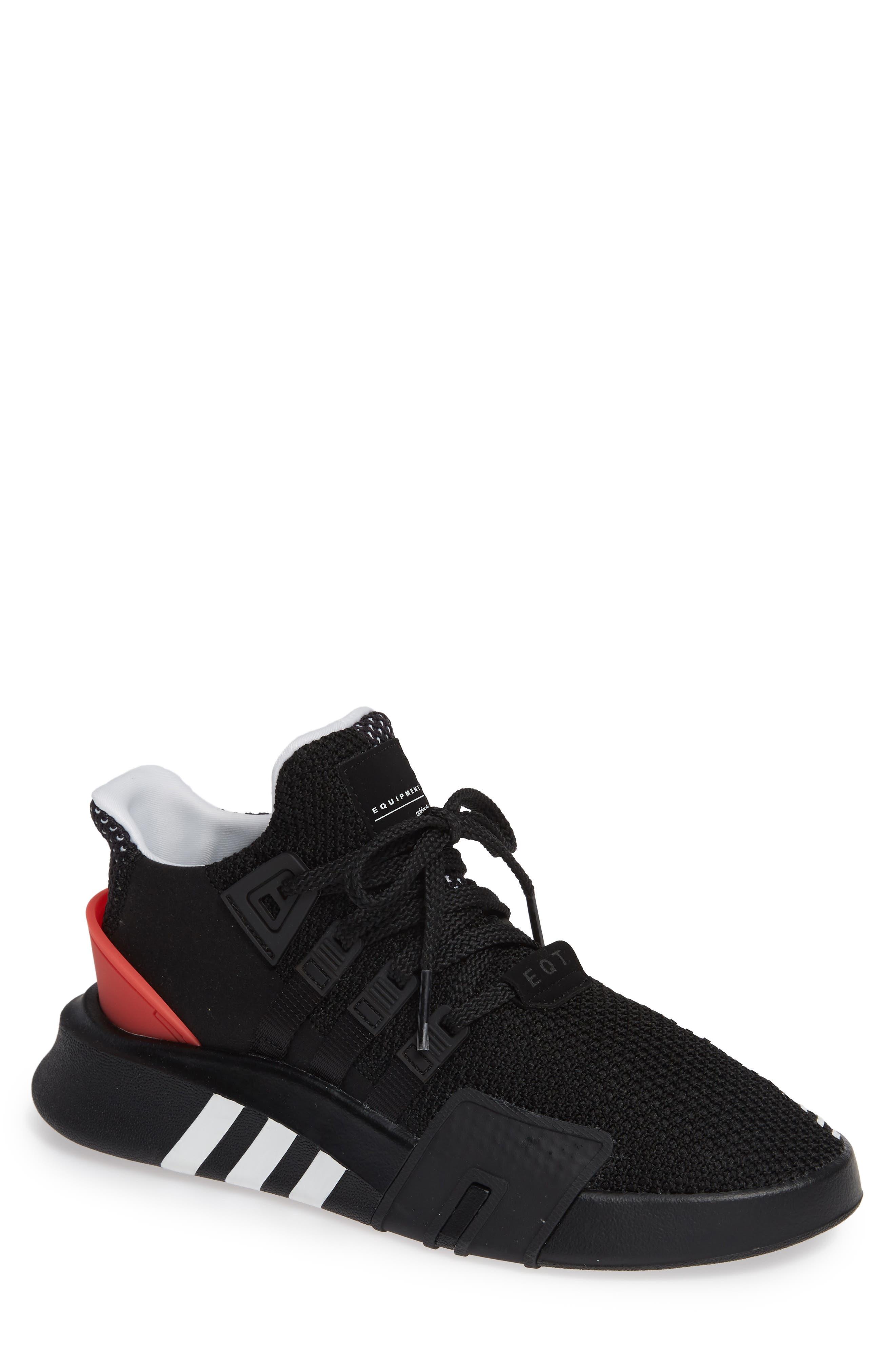 EQT Basketball ADV Sneaker,                         Main,                         color, Black/ White/ Hi-Res Red