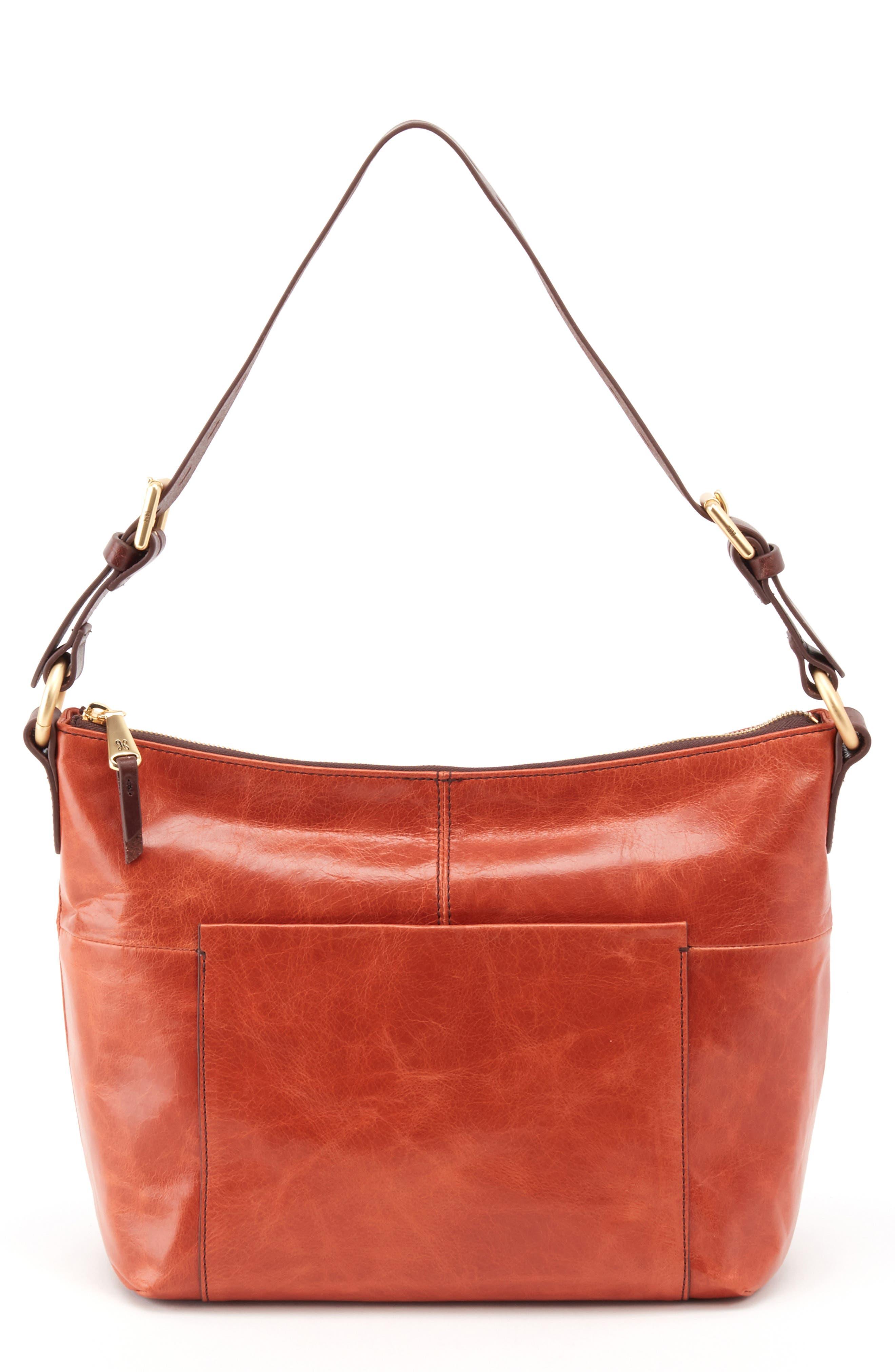 'Charlie' Leather Shoulder Bag,                         Main,                         color, Clay