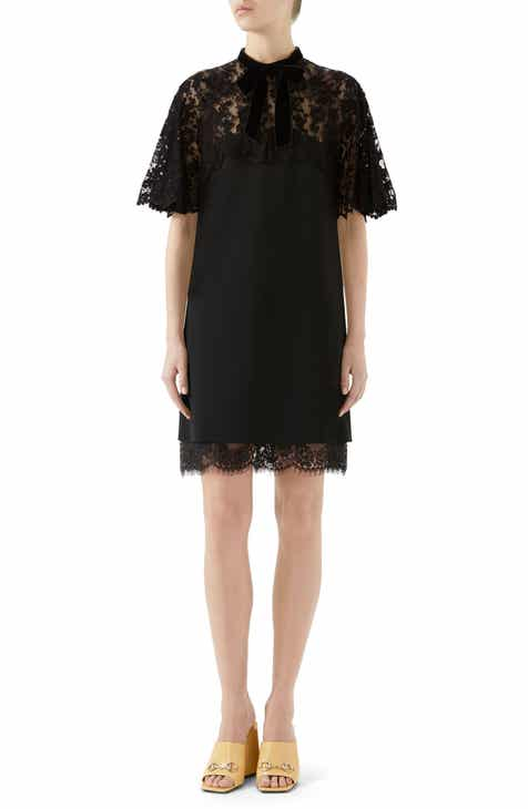 Gucci Lace Detail Jersey Dress by GUCCI