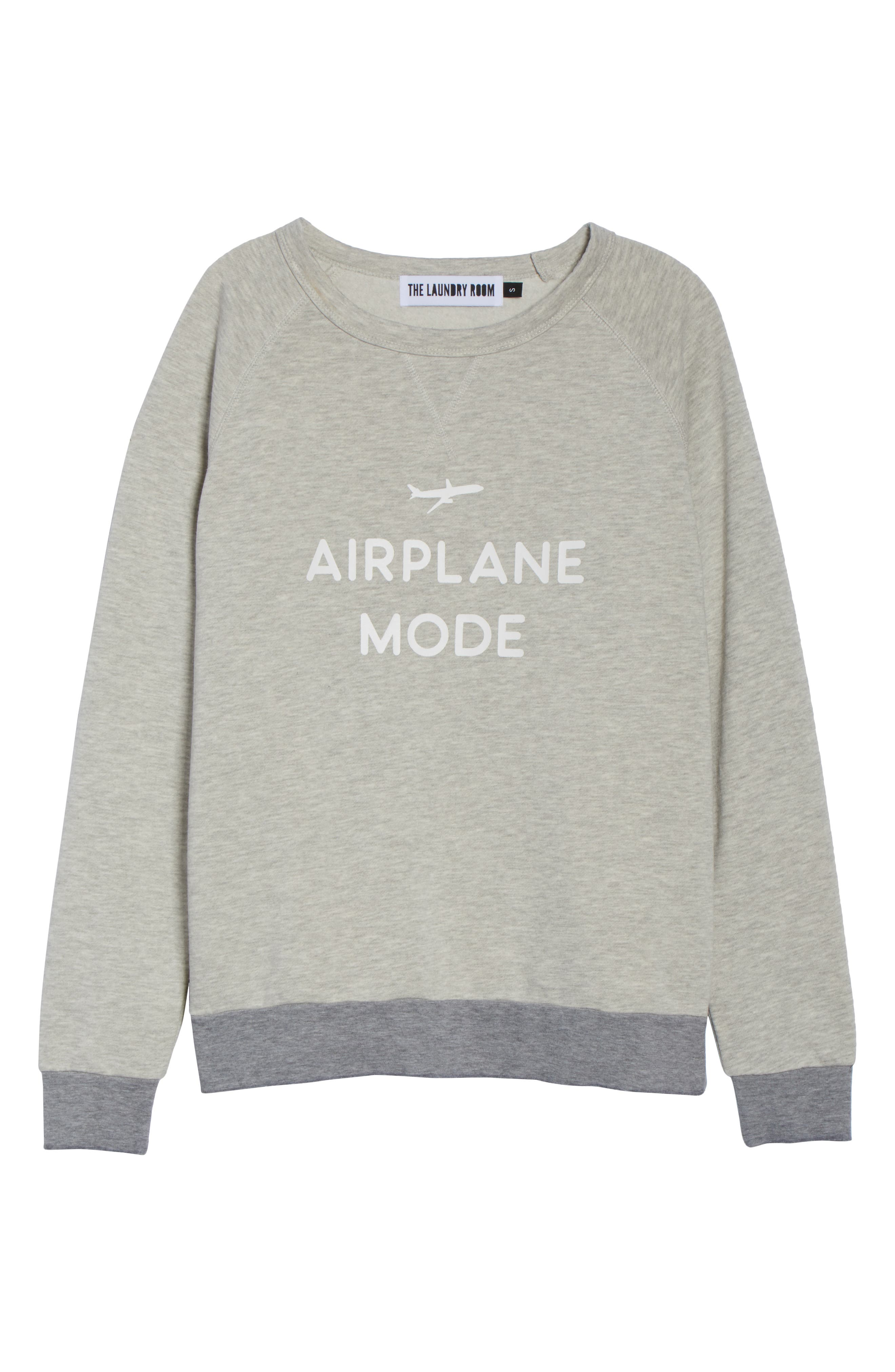 Airplane Mode Cozy Lounge Sweatshirt,                             Alternate thumbnail 6, color,                             Pebble Heather