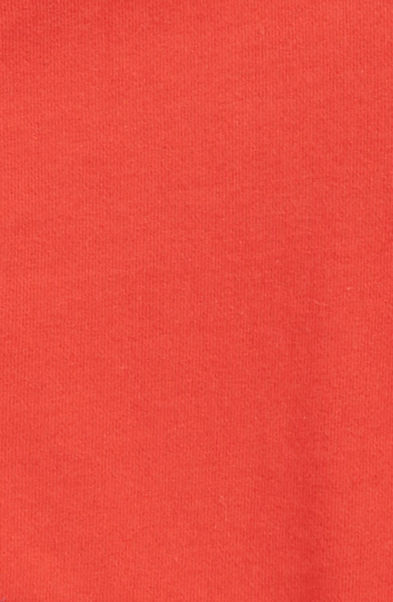Patchwork Zip Hoodie,                             Alternate thumbnail 2, color,                             Salsa Red
