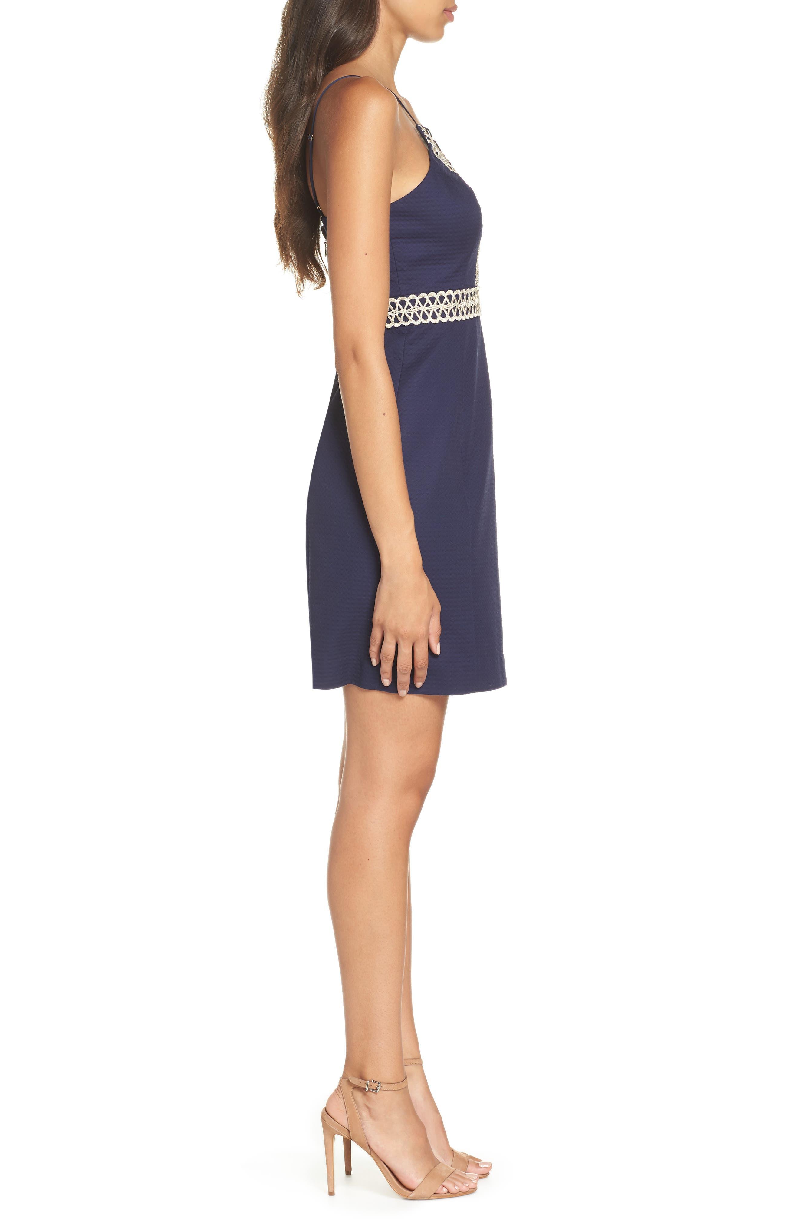 Trista Halter Sheath Dress,                             Alternate thumbnail 3, color,                             True Navy
