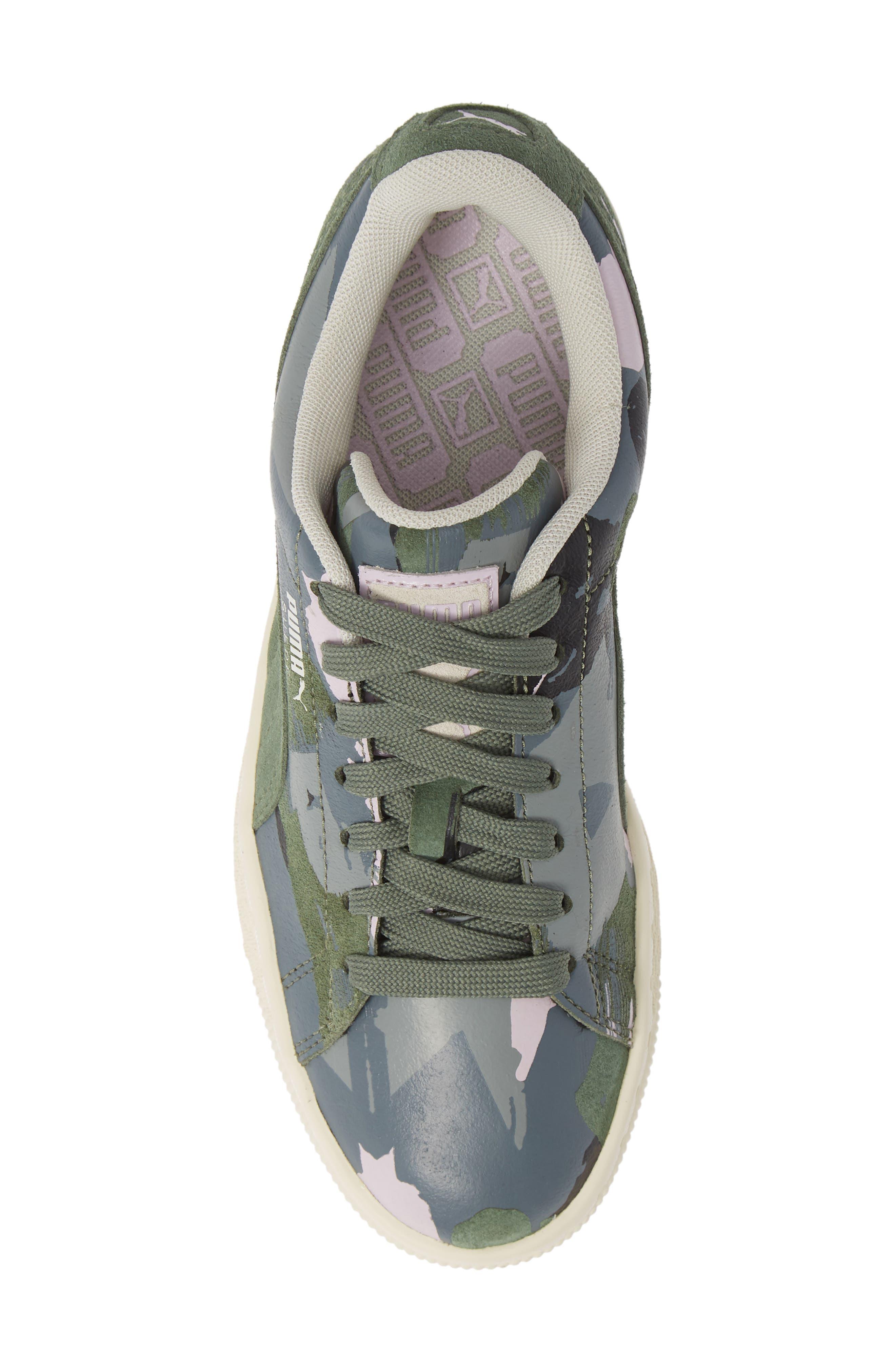 'Suede Classic' Sneaker,                             Alternate thumbnail 3, color,                             Laurel Wreath-White-Orchid