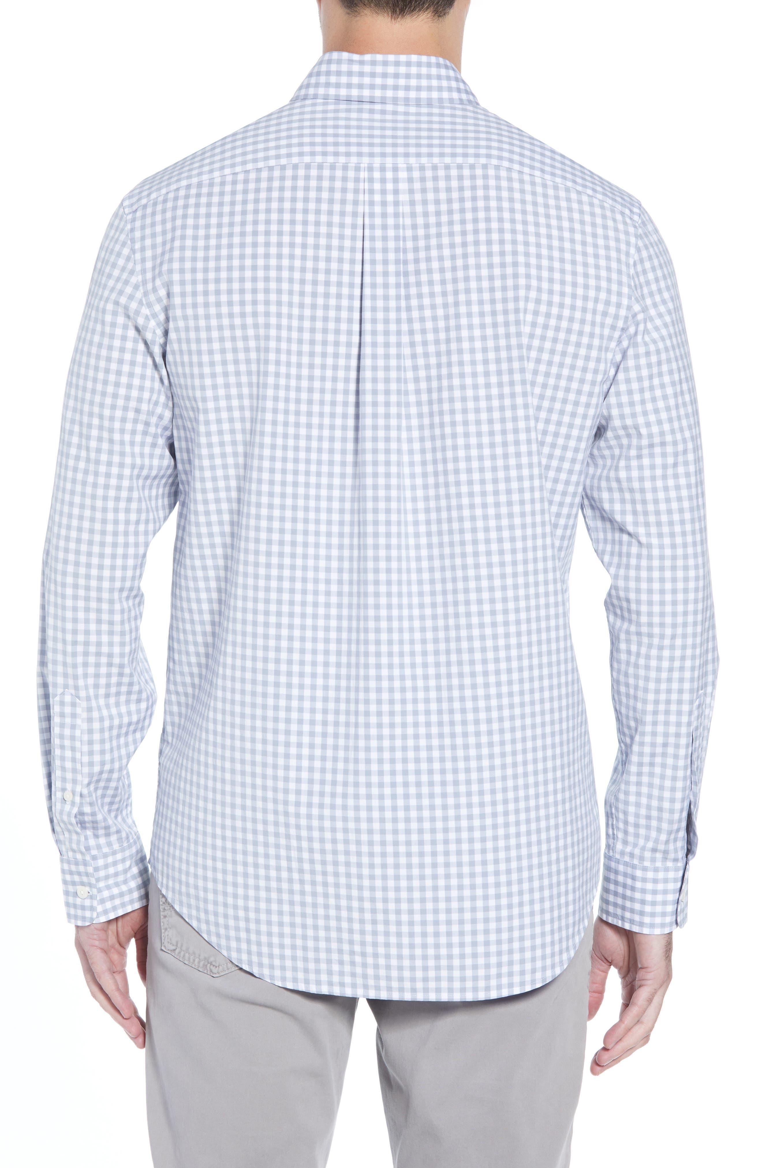 Carleton Classic Fit Gingham Sport Shirt,                             Alternate thumbnail 4, color,                             Hammerhead
