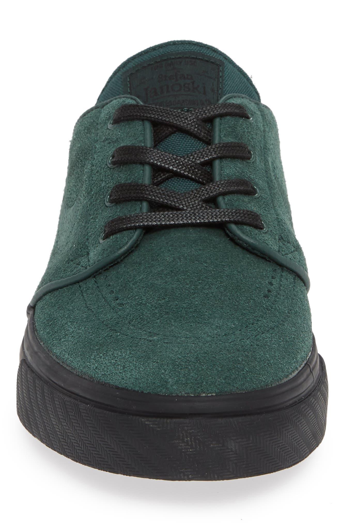 'Zoom - Stefan Janoski' Skate Shoe,                             Alternate thumbnail 6, color,                             Midnight Green/ Black