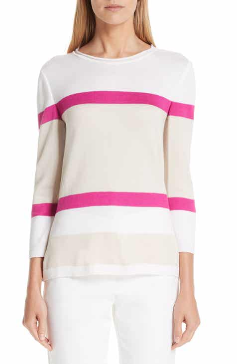 St. John Collection Stripe Jacquard Sweater by ST. JOHN COLLECTION