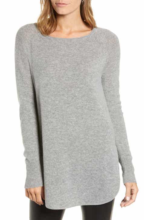 Womens Grey Tunic Sweaters Nordstrom